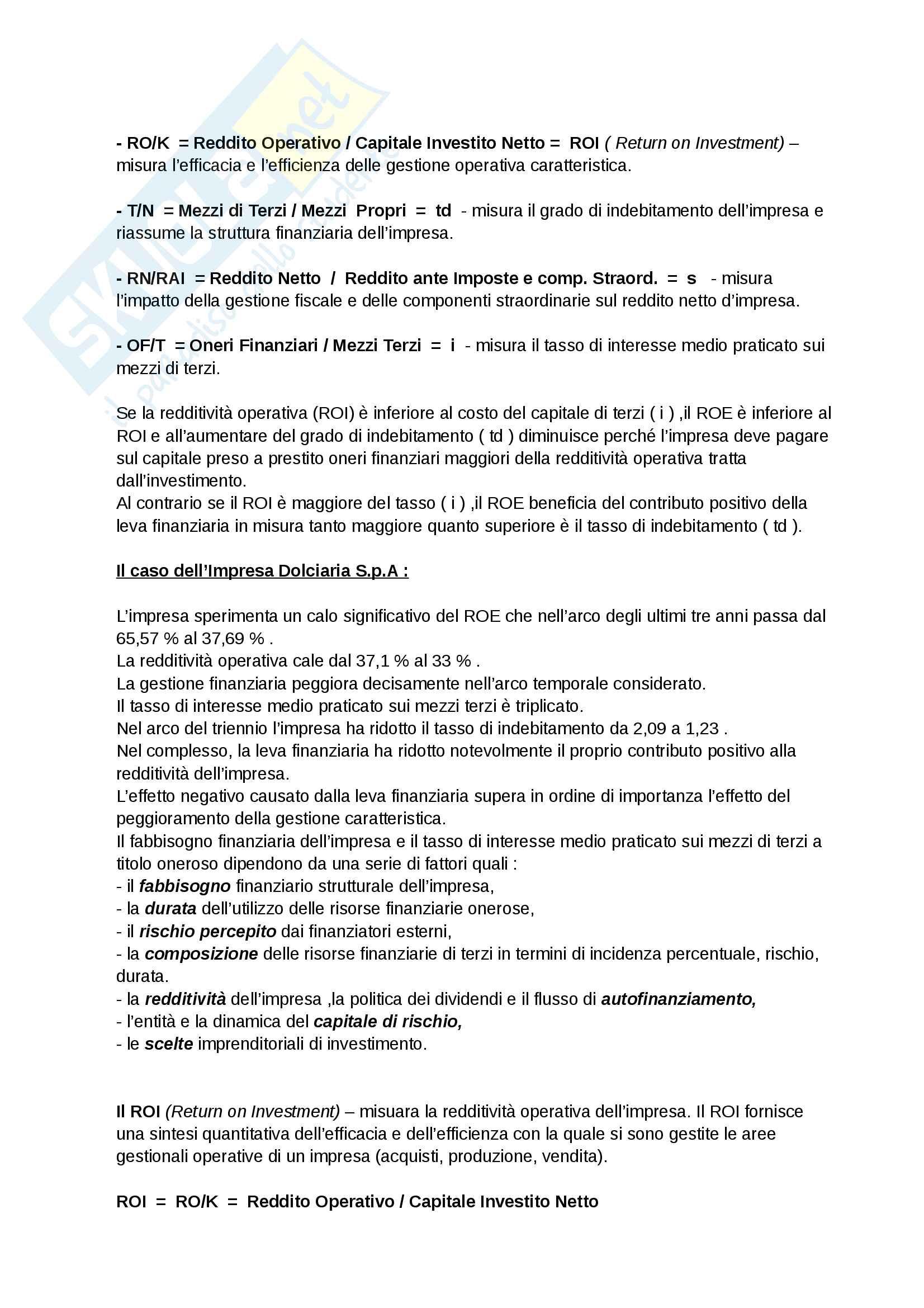 Riassunto esame di Economia e Gestione delle Imprese, prof. R. Moliterni. Libro consigliato Economia e Gestione delle Imprese Pag. 41