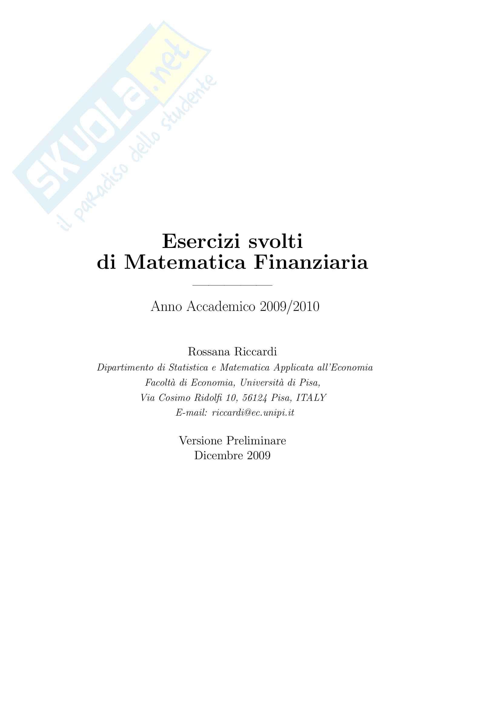 appunto R. Cambini Matematica generale