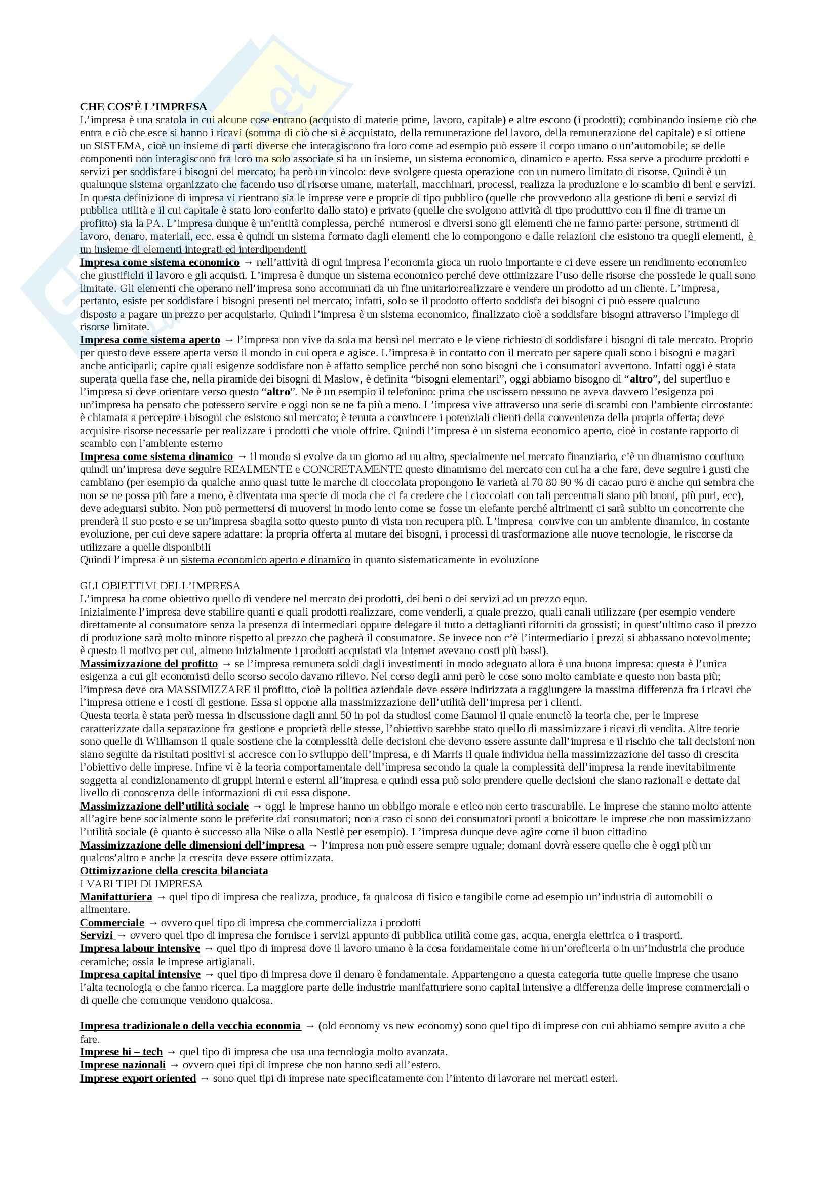 Teorie e tecniche della promozione di immagine - Appunti