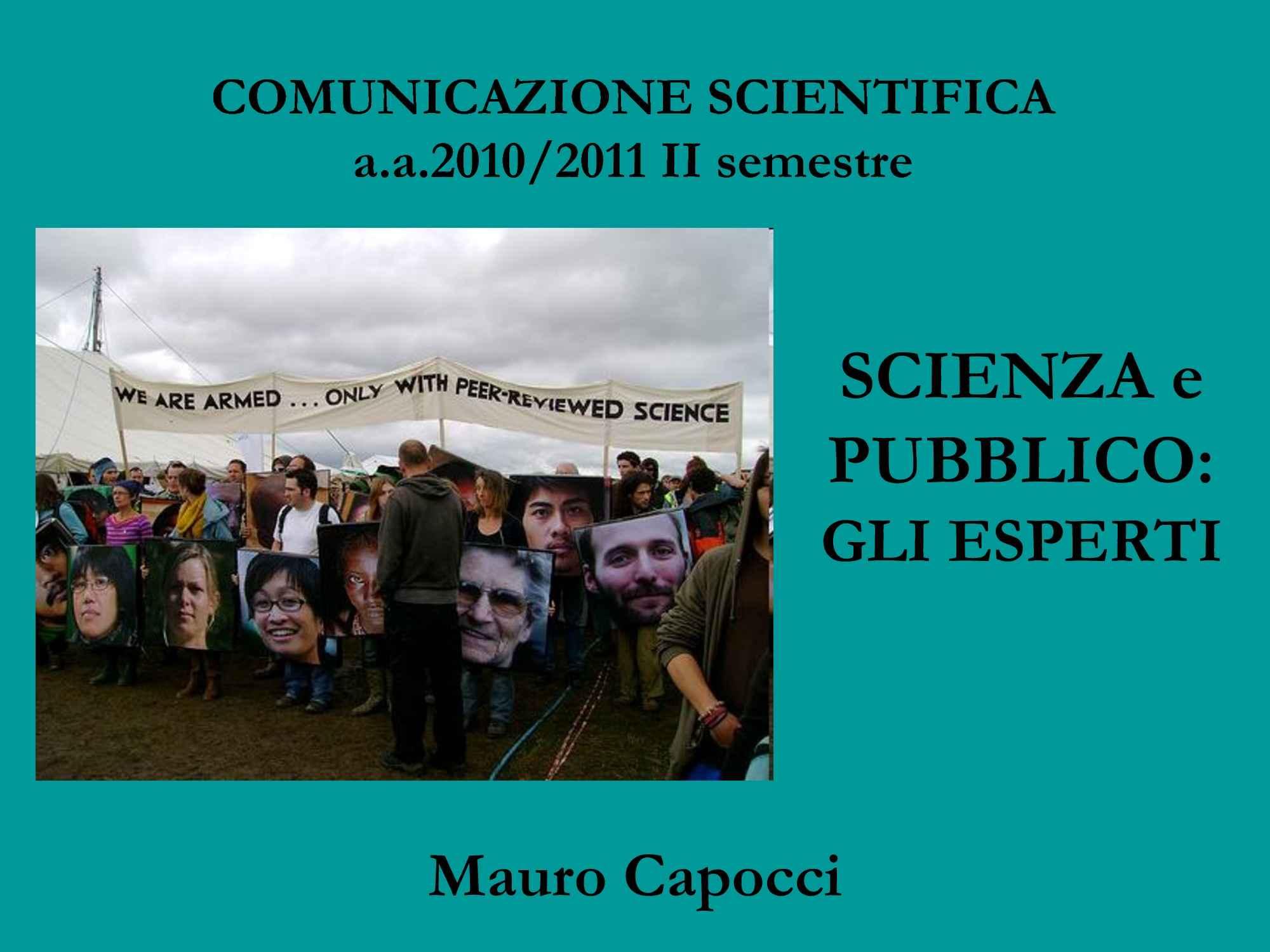 Scienza e pubblico - Evoluzione scienza e società
