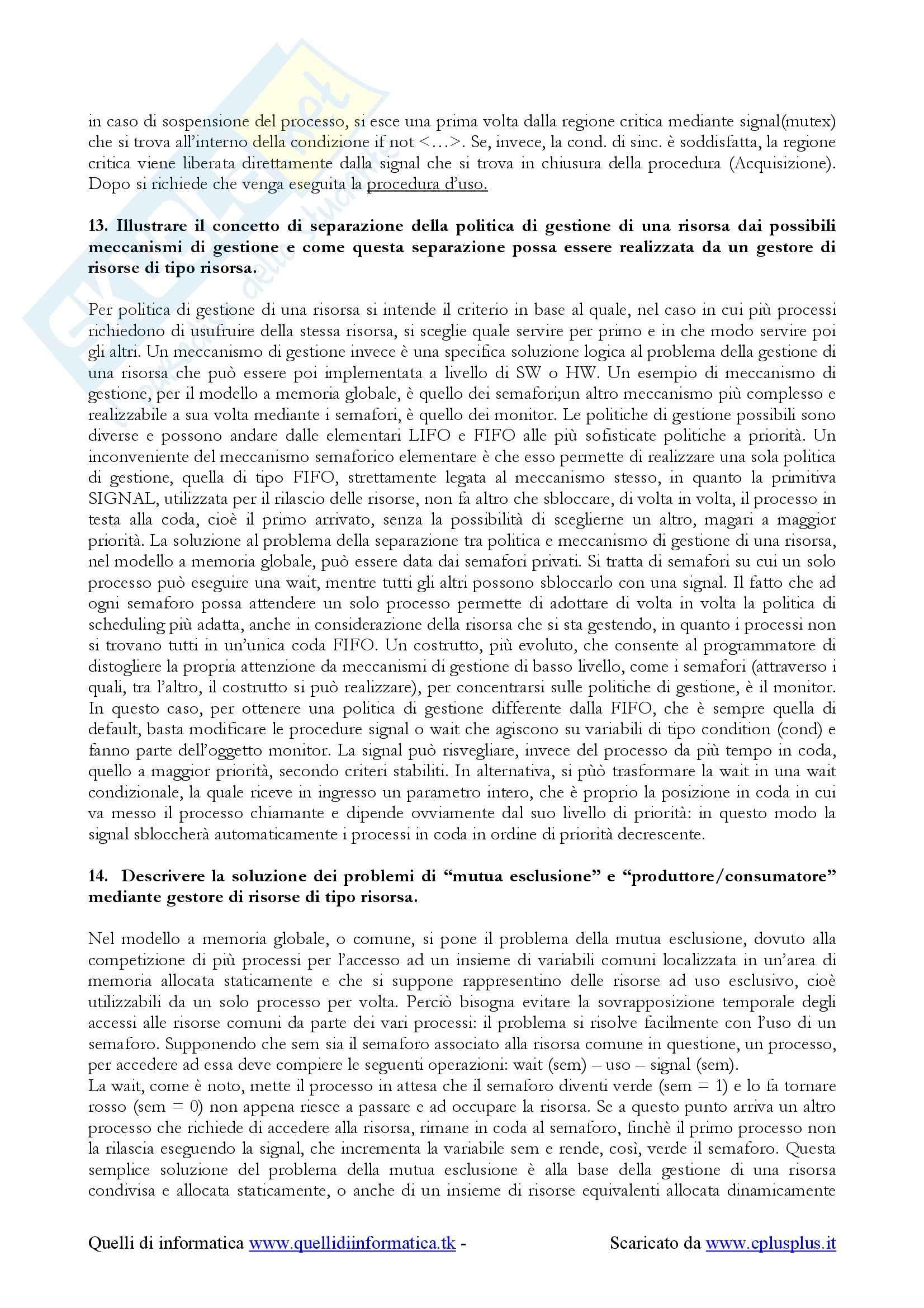 Sistemi operativi - domande esame Pag. 11