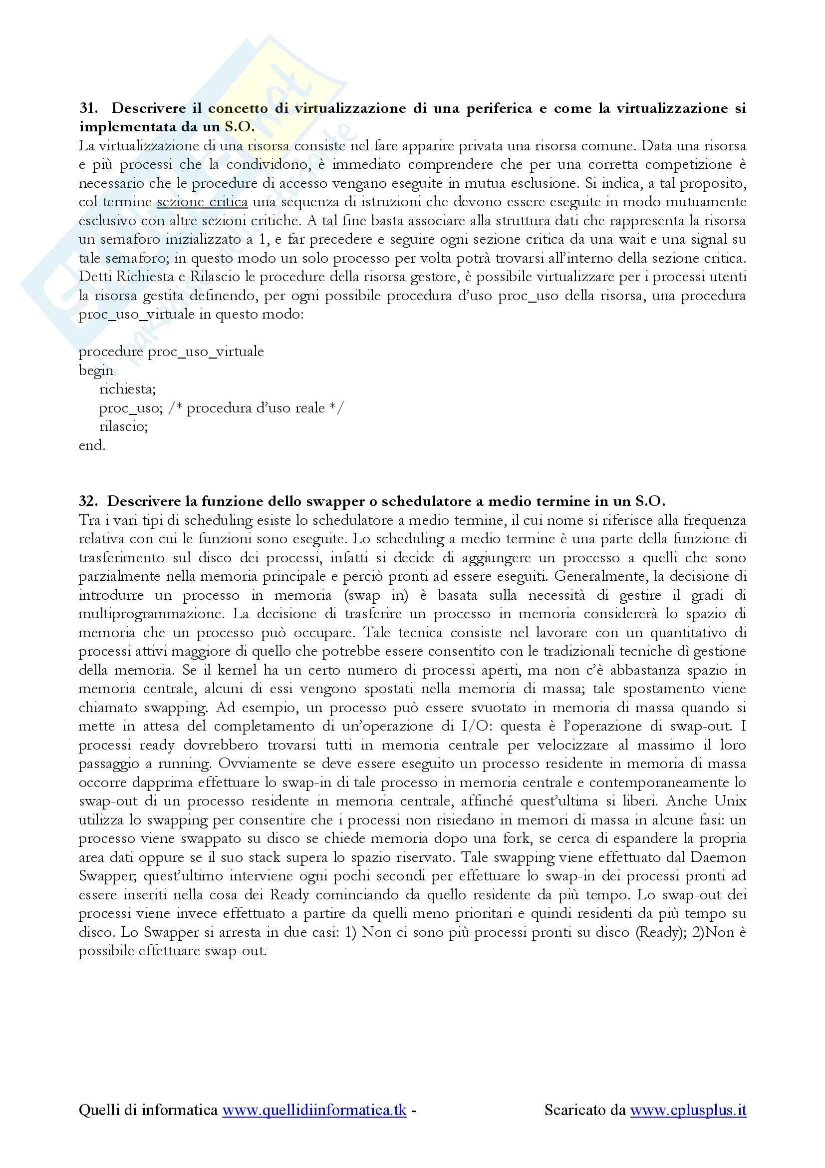 Sistemi operativi - domande esame Pag. 26