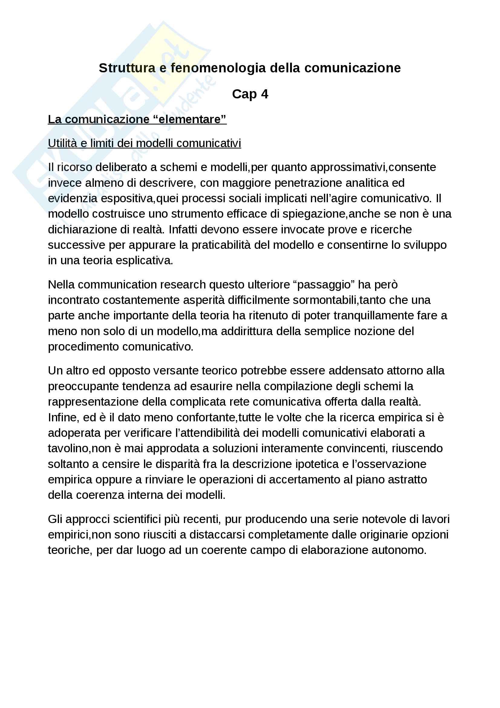 Riassunto esame sociologia della comunicazione. Libro consigliato La scienza della comunicazione, Morcellini, Fatelli Pag. 31