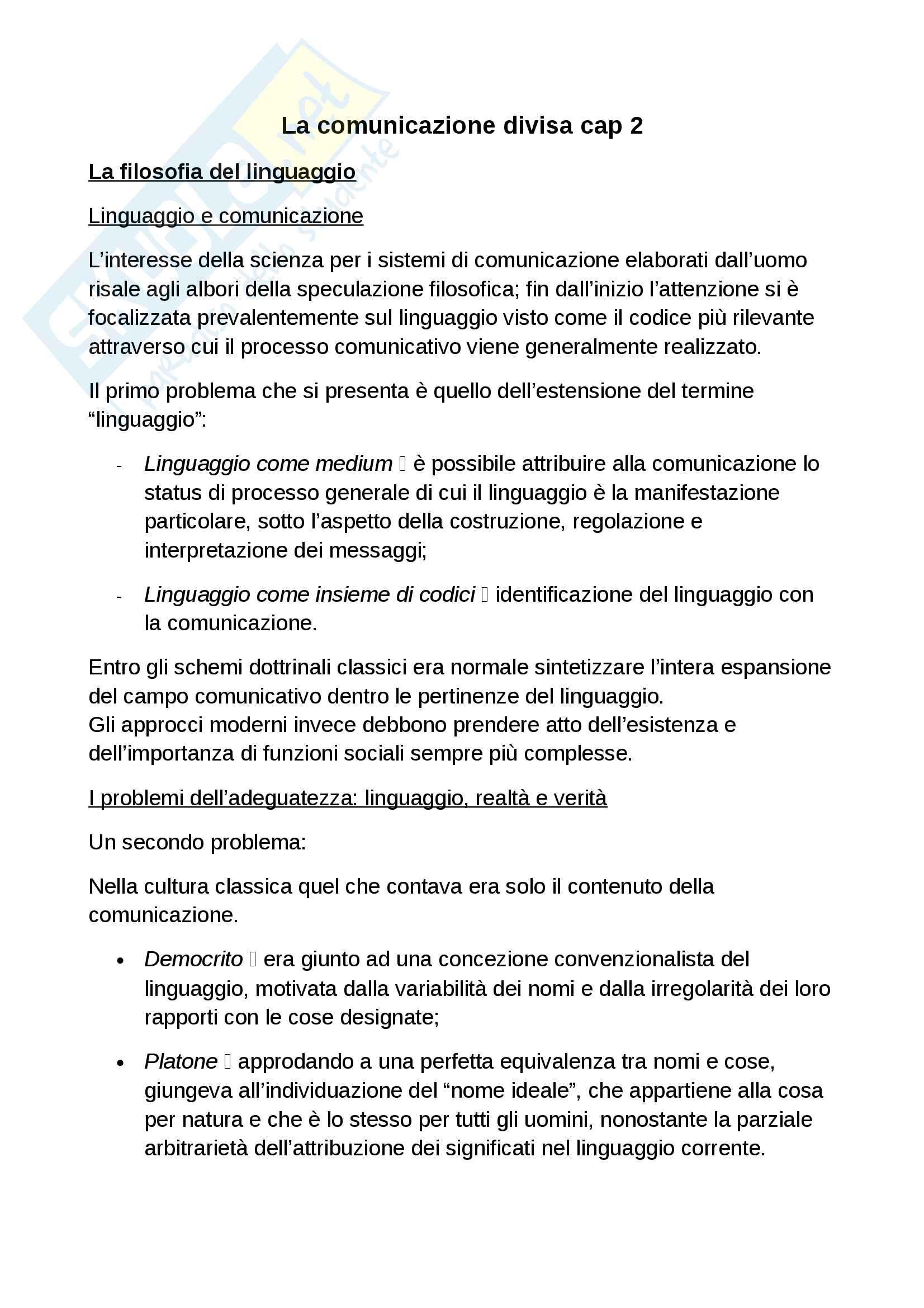 Riassunto esame sociologia della comunicazione. Libro consigliato La scienza della comunicazione, Morcellini, Fatelli Pag. 6