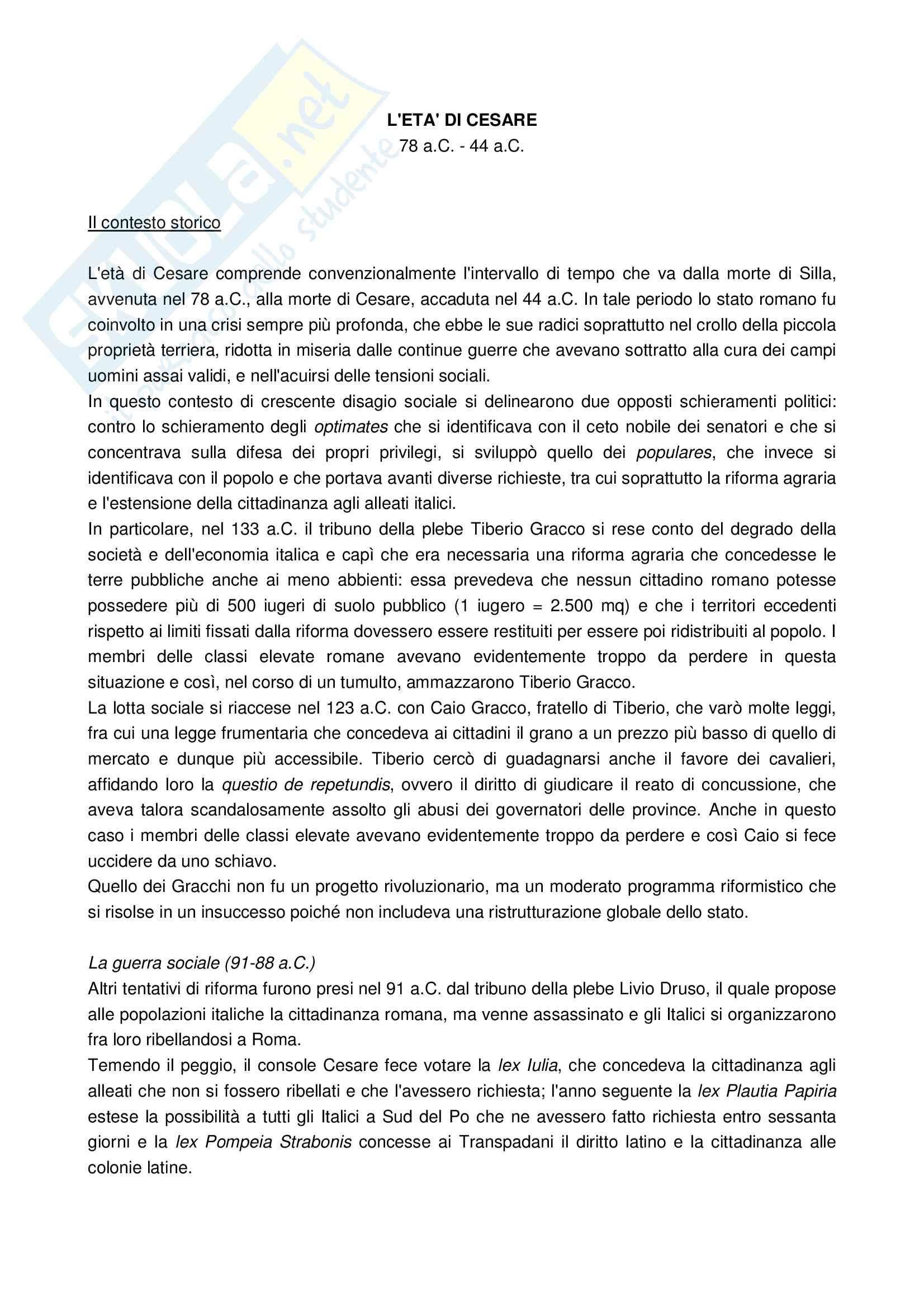 appunto A. Cavarzere Letteratura latina