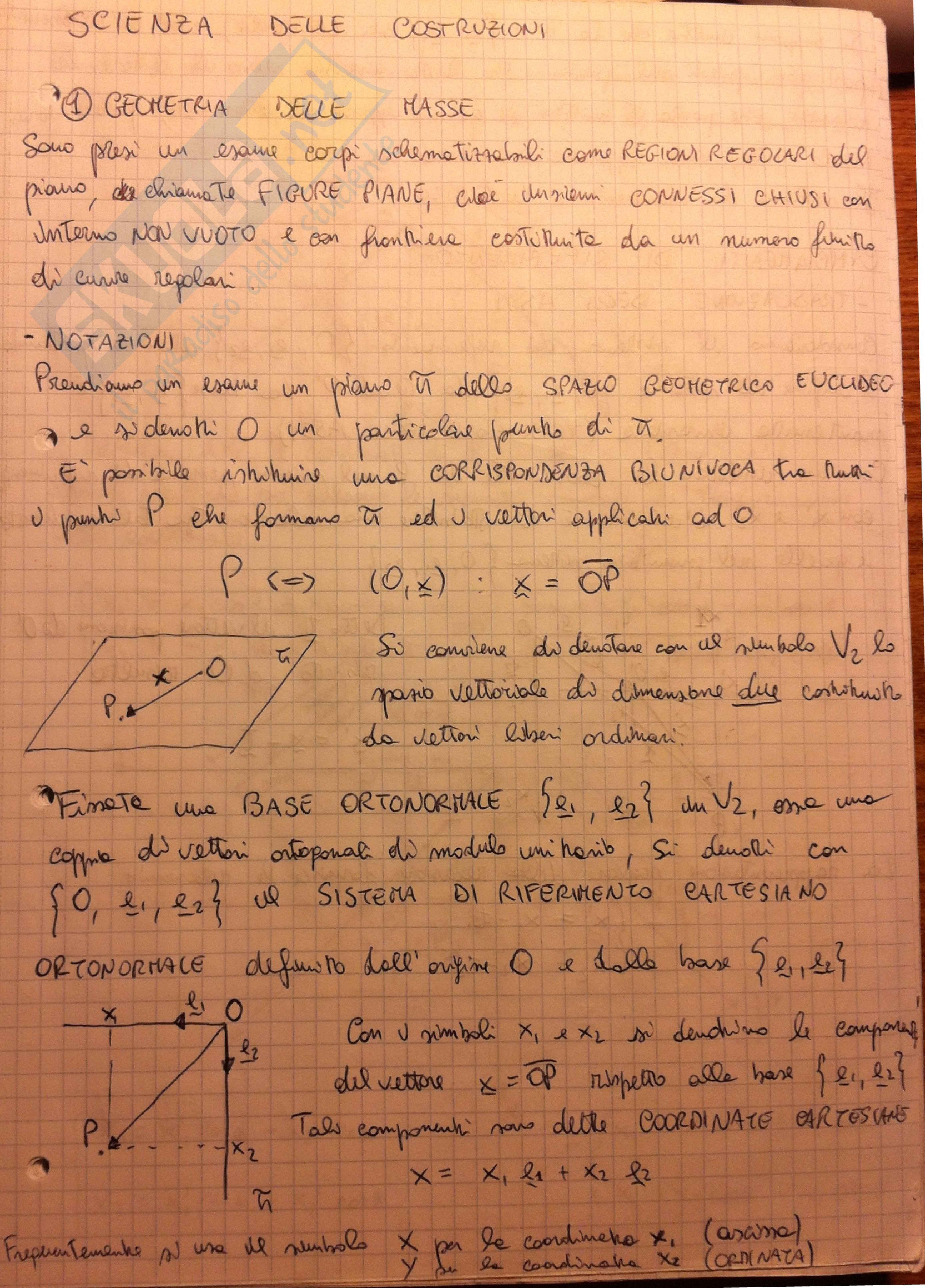 Geometria delle masse, Scienza delle costruzioni