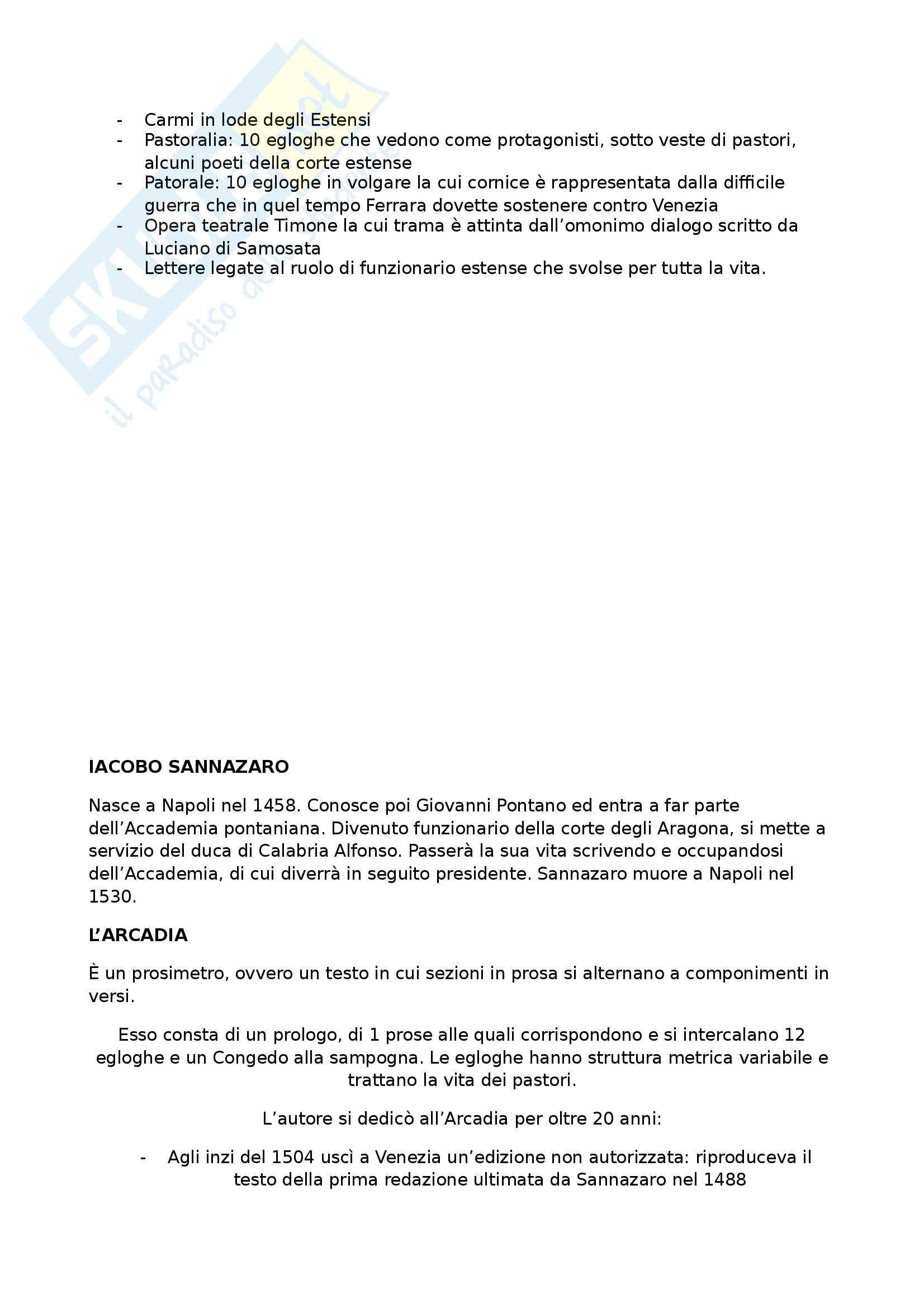 Riassunto esame Letteratura Italiana del Rinascimento, prof. Coppini, libro consigliato Storia della Letteratura Italiana, vol.III:Il Quattrocento, Malato Pag. 16