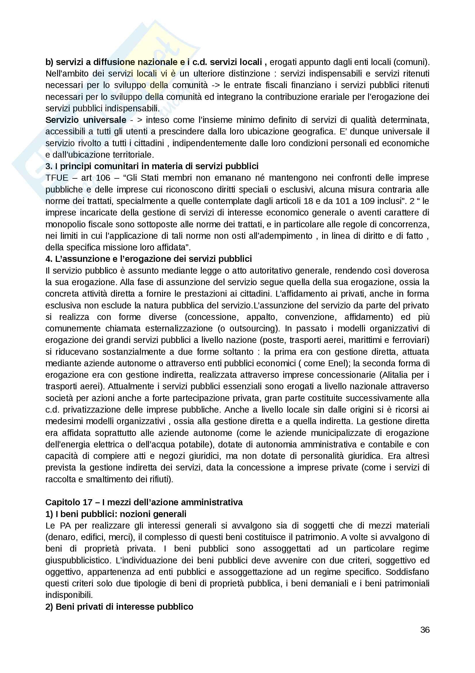 Riassunto esame Diritto amministrativo, Prof. Giuffrida, Libro consigliato Lineamenti di diritto amministrativo, Crosetti, Giuffrida Pag. 36