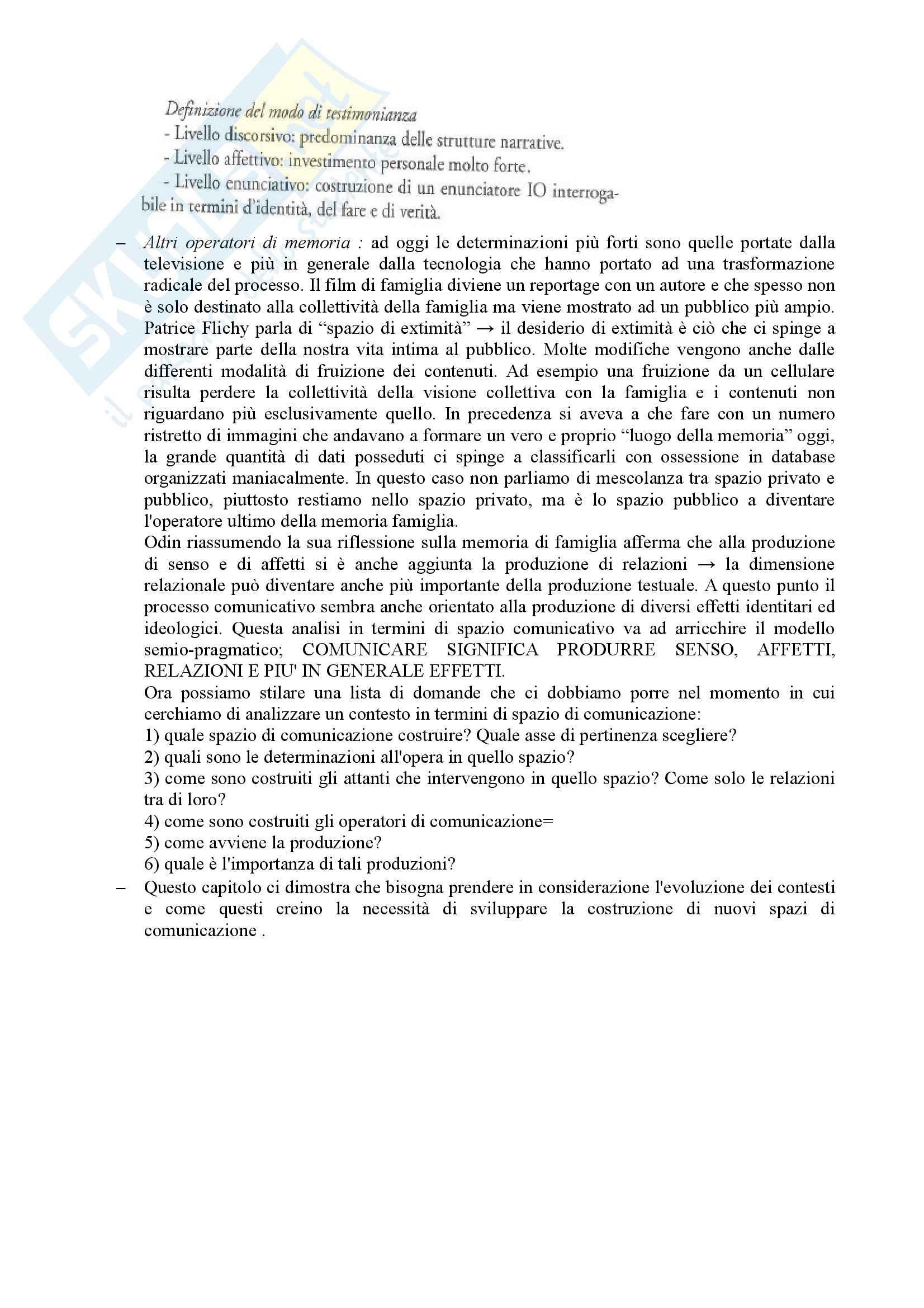 Riassunto esame Pragmatica della Comunicazione mediata, prof. Eugeni, libro consigliato Gli spazi di comunicazione  Pag. 21