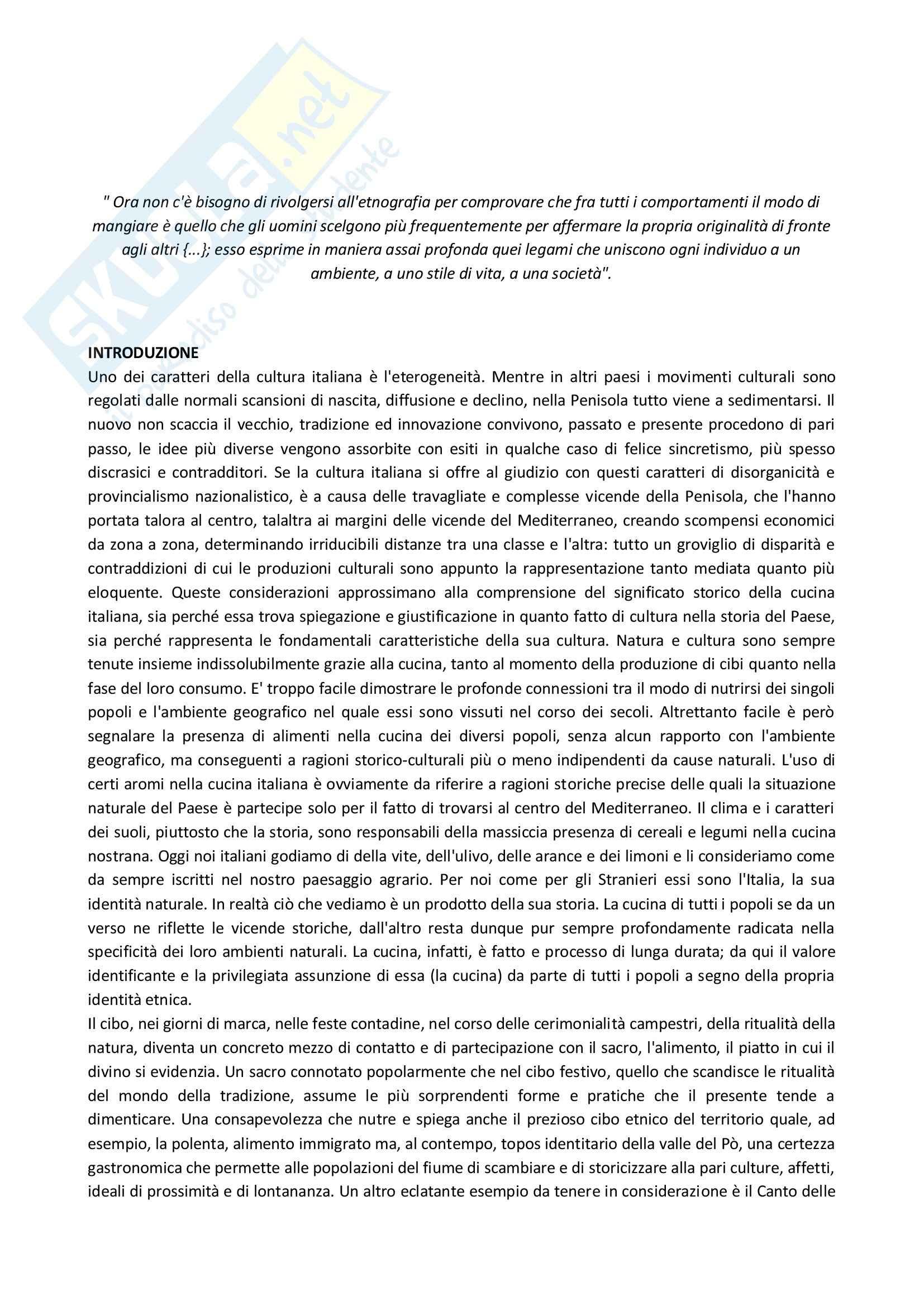 Riassunto esame Antropologia culturale, prof. Bonato, libro consigliato Cibo e rito. Il gesto e la parola nell'alimentazione tradizionale, Grimaldi