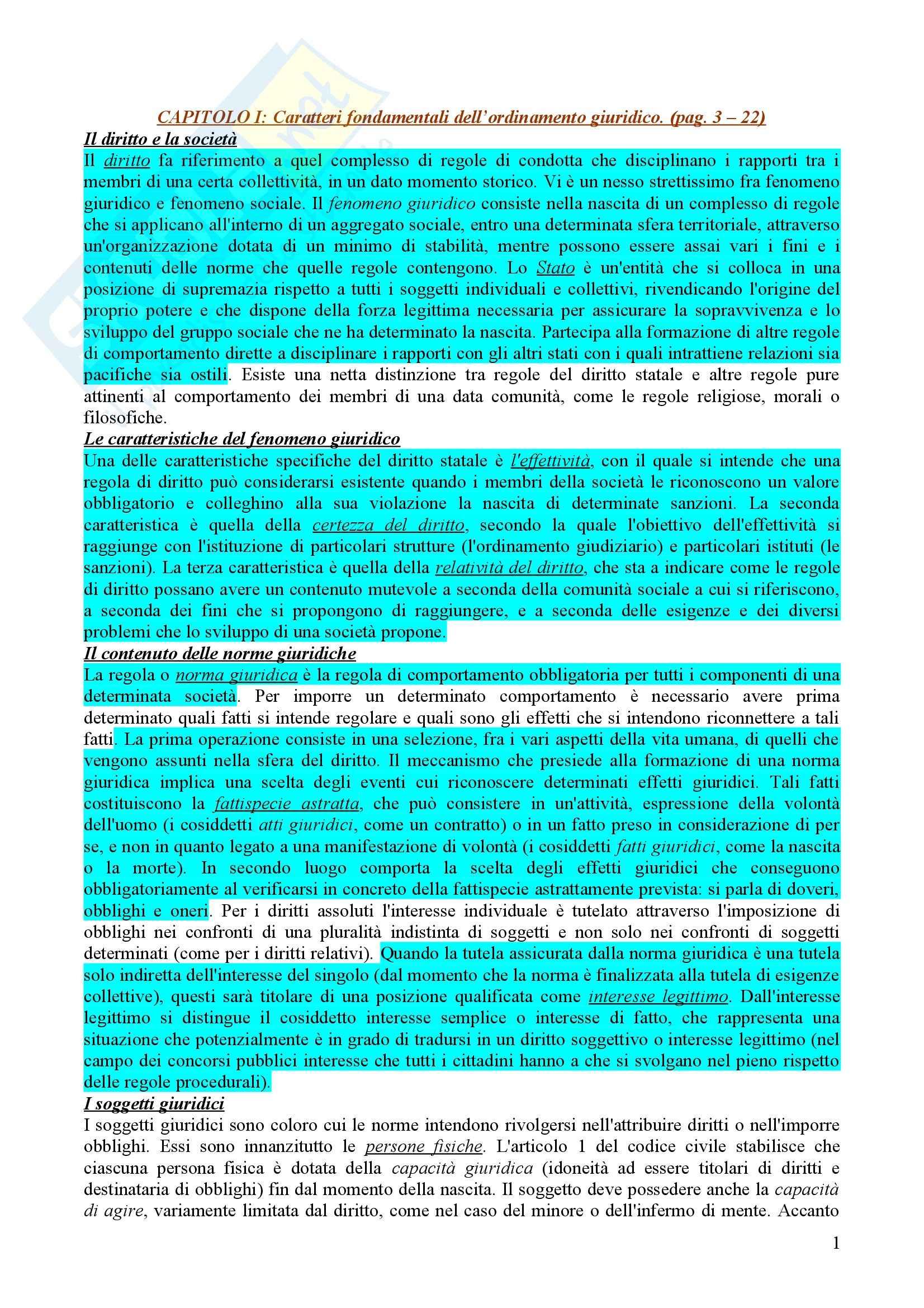 Diritto pubblico - i caratteri fondamentali dell'ordinamento giuridico
