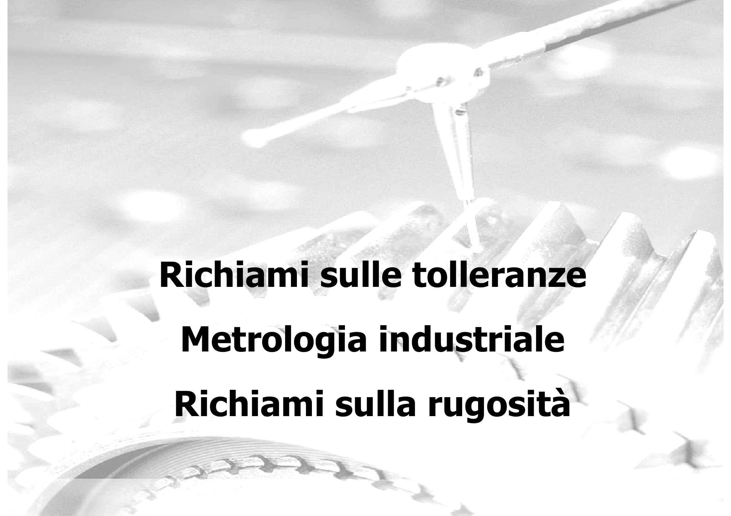 Metrologia industriale
