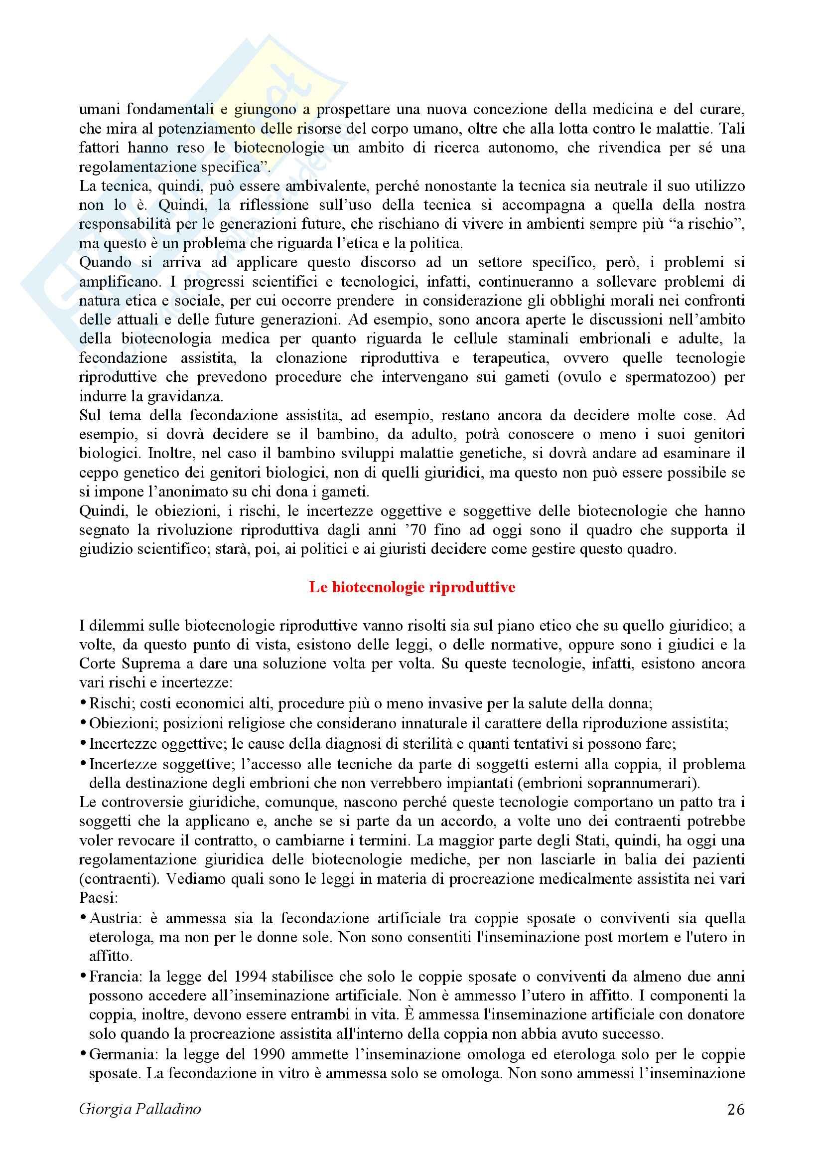 Bioetica, appunti Pag. 26