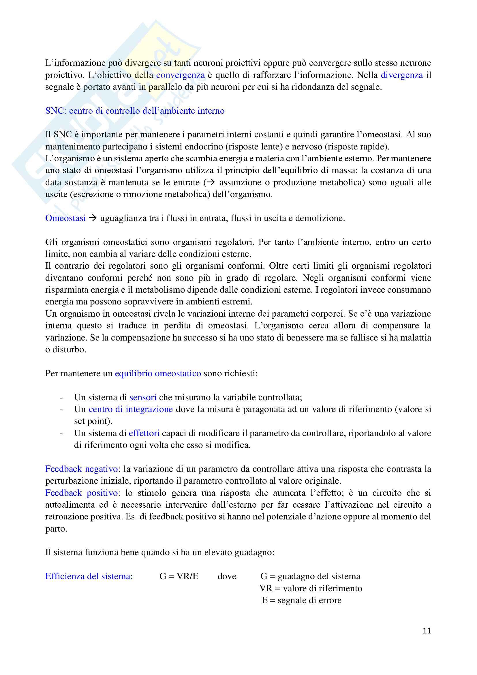 Fisiologia dei sistemi Pag. 11