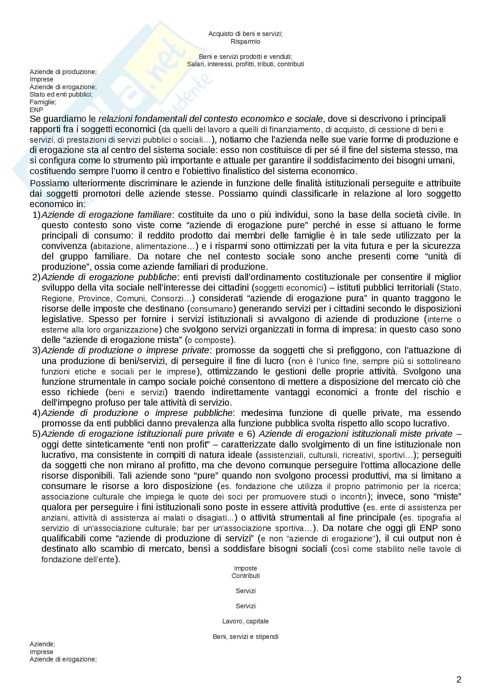 """Riassunto esame Economia delle aziende non profit, prof. Propersi. Libro consigliato """"Gli enti non profit"""", Propersi Pag. 2"""