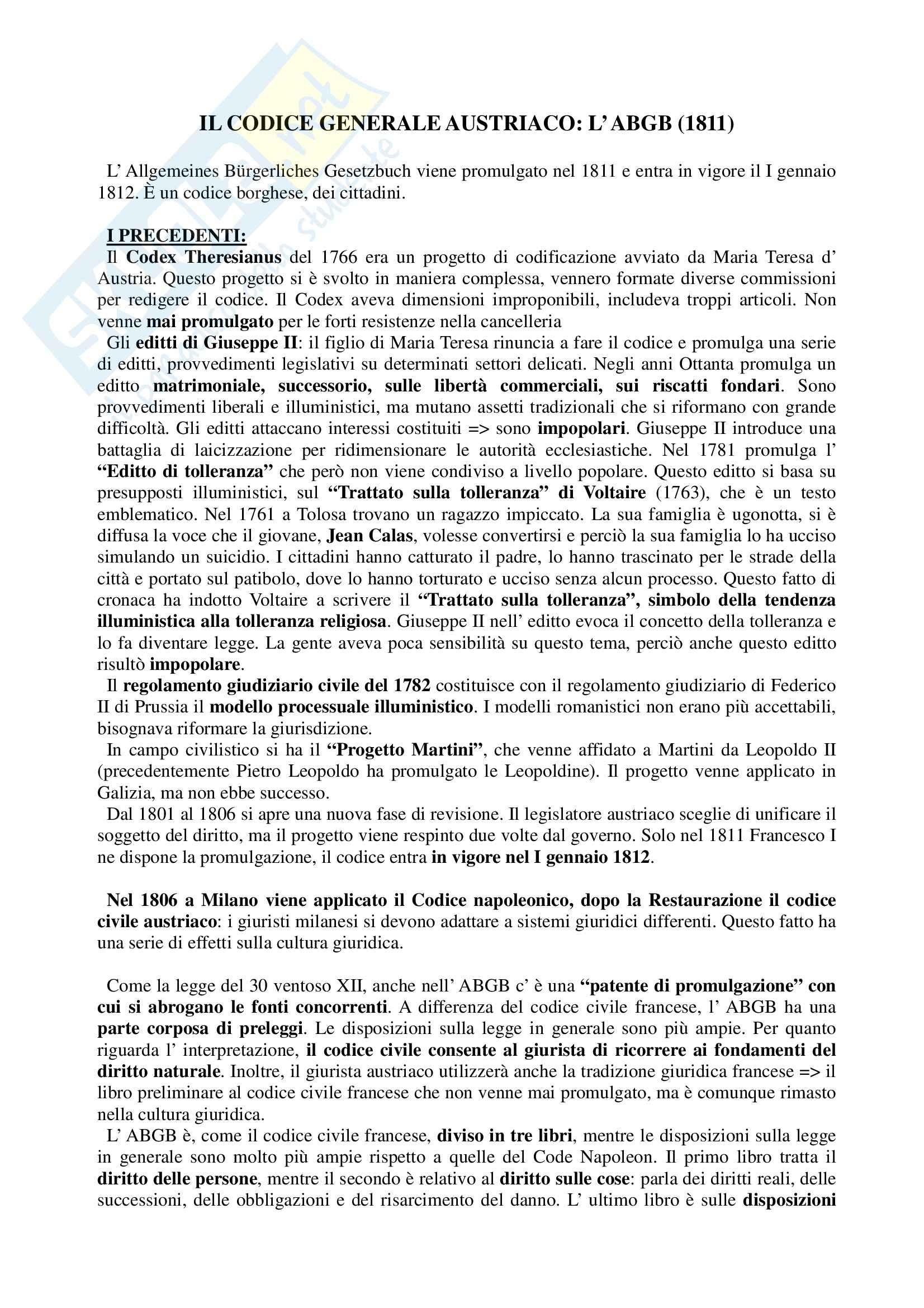 Storia del diritto medievale e moderno - Appunti Pag. 26