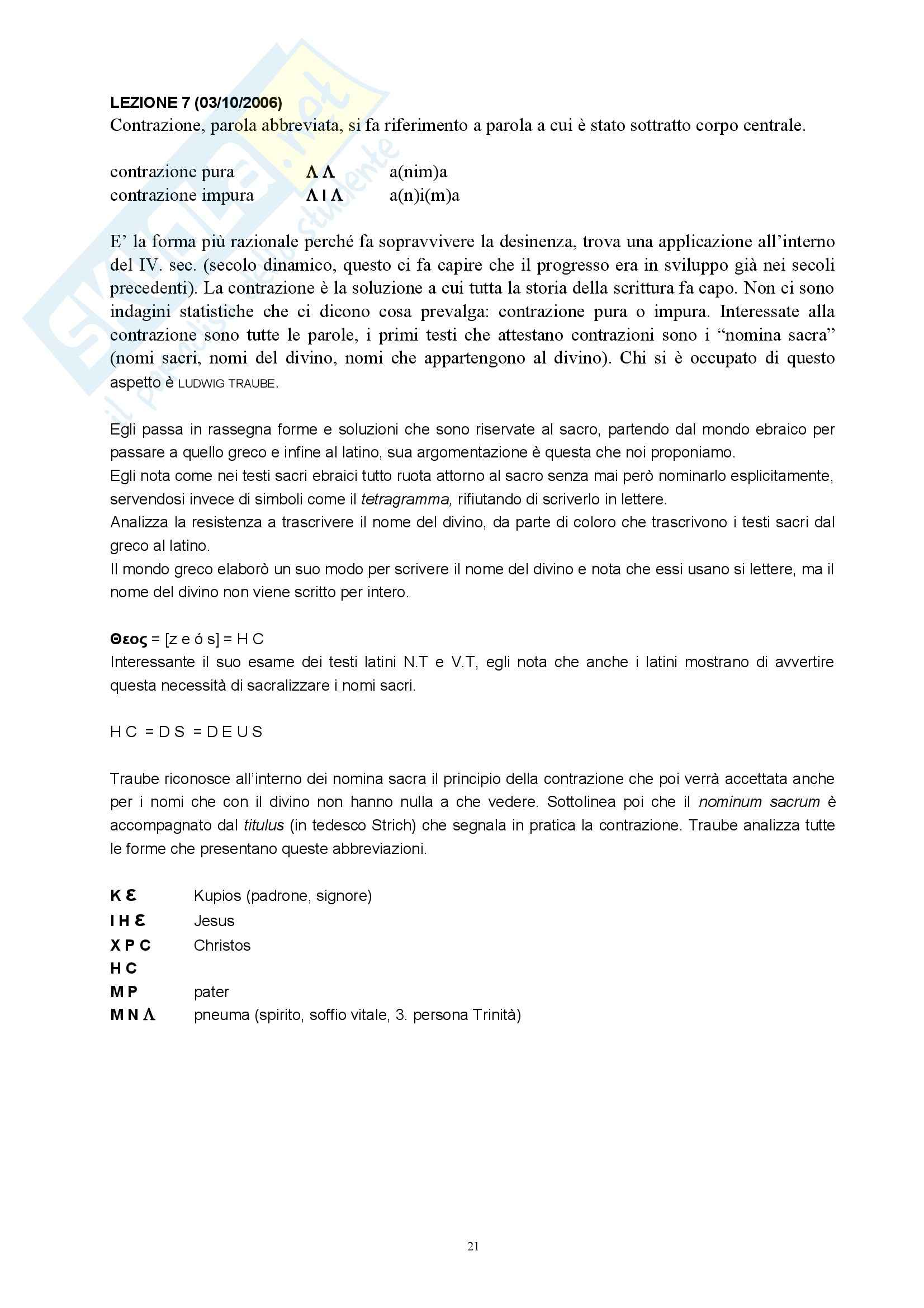 Paleografia latina - Appunti Pag. 21