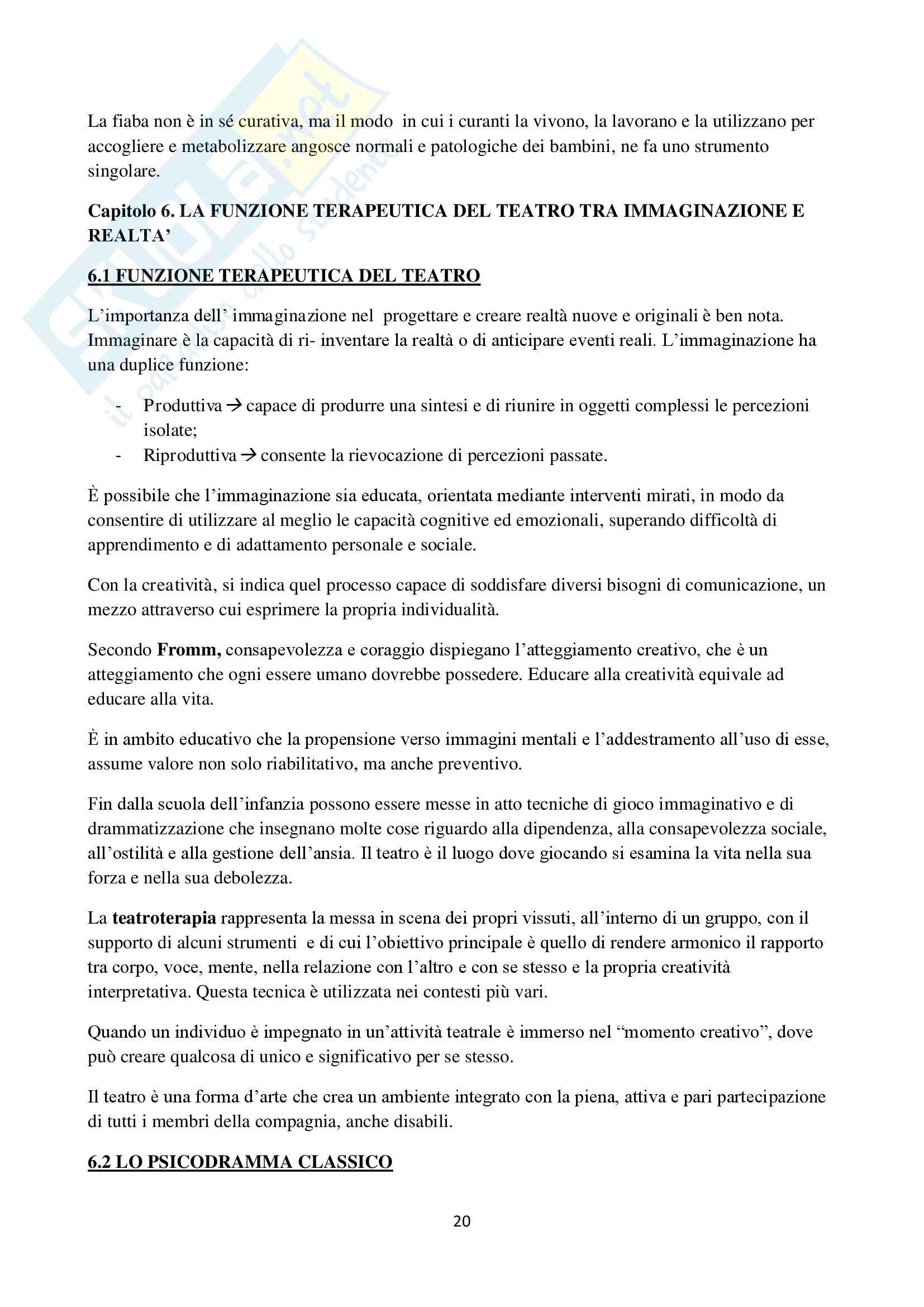 Riassunto esame Metodi e tecniche riabilitative in ambito psicopatologico, Prof.ssa De Pasquale, libro consigliato il training riabilitativo nel disagio psichico, Concetta De Pasquale, Daniela Conti Pag. 21
