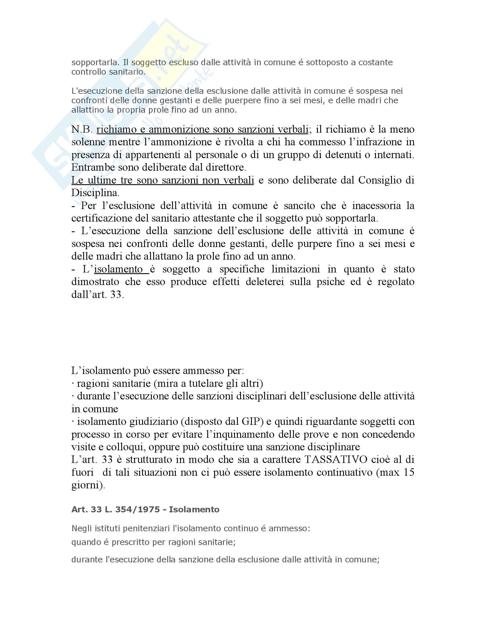 Riassunto esame Diritto penitenziario, prof. Scomparin, libro consigliato Compendio Diritto penitenziario Pag. 51