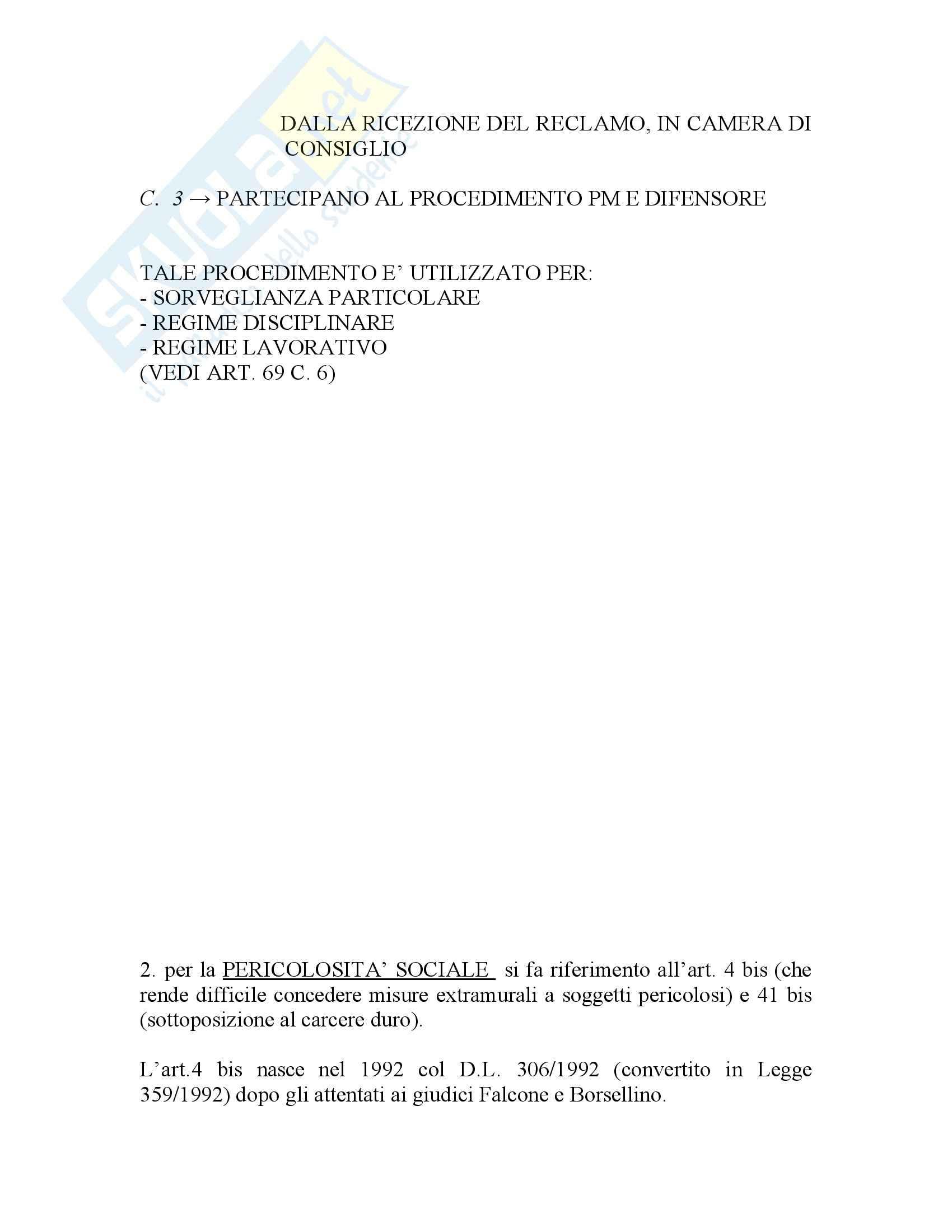 Riassunto esame Diritto penitenziario, prof. Scomparin, libro consigliato Compendio Diritto penitenziario Pag. 61
