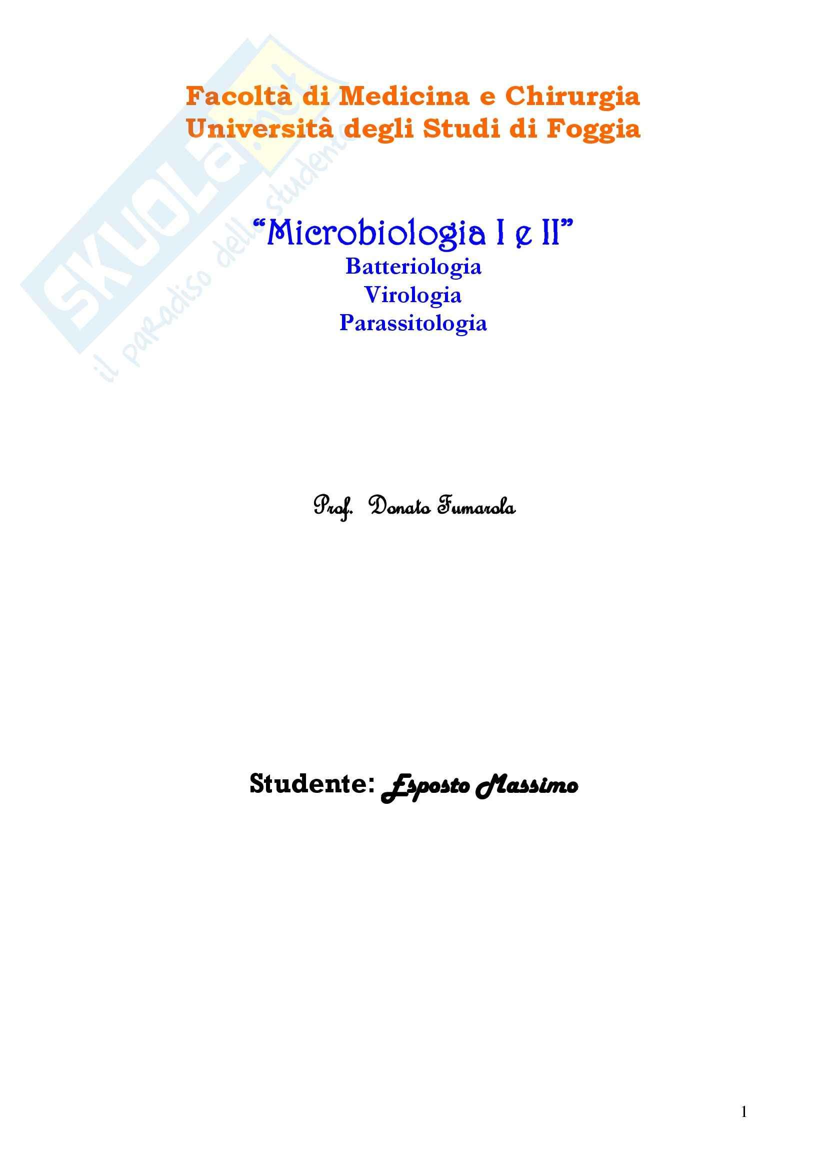Microbiologia I e II - Corso completo