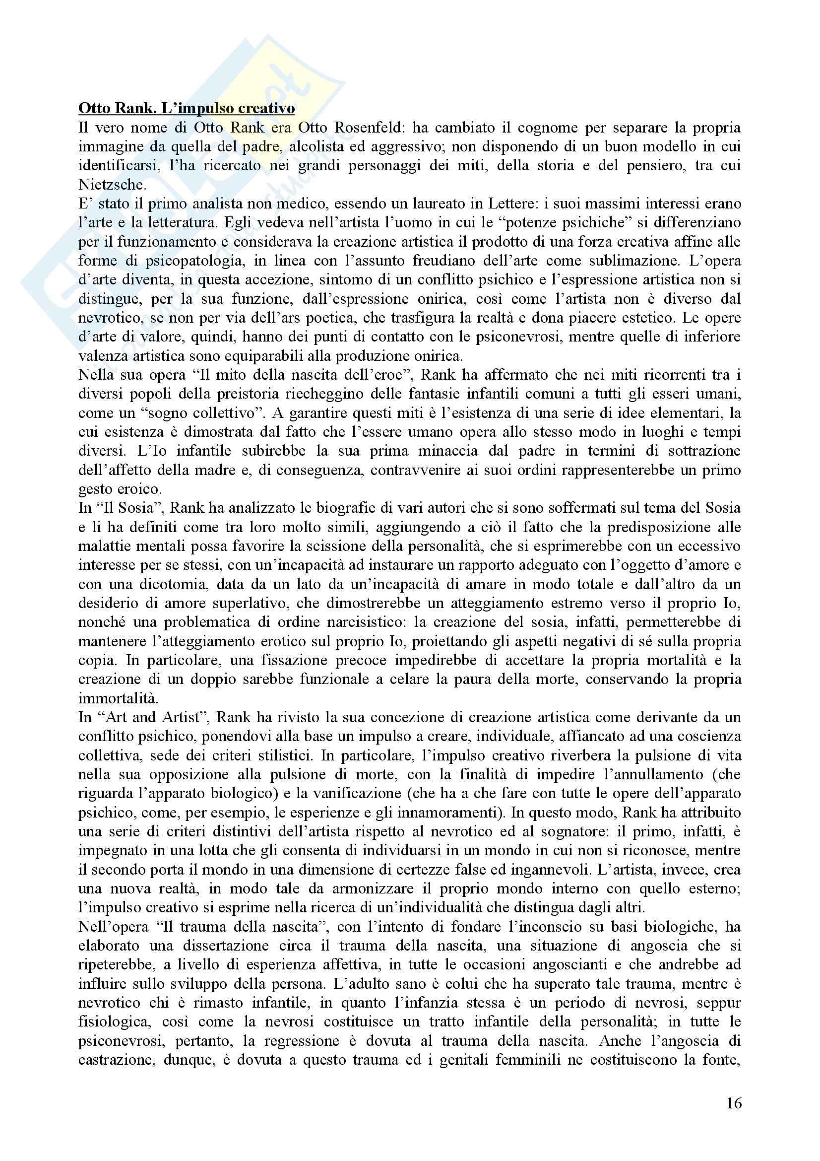 Riassunto esame Psicologia Dinamica, prof. Nespoli, libro consigliato Modelli Evolutivi in Psicologia Dinamica I, Quaglia, Longobardi Pag. 16