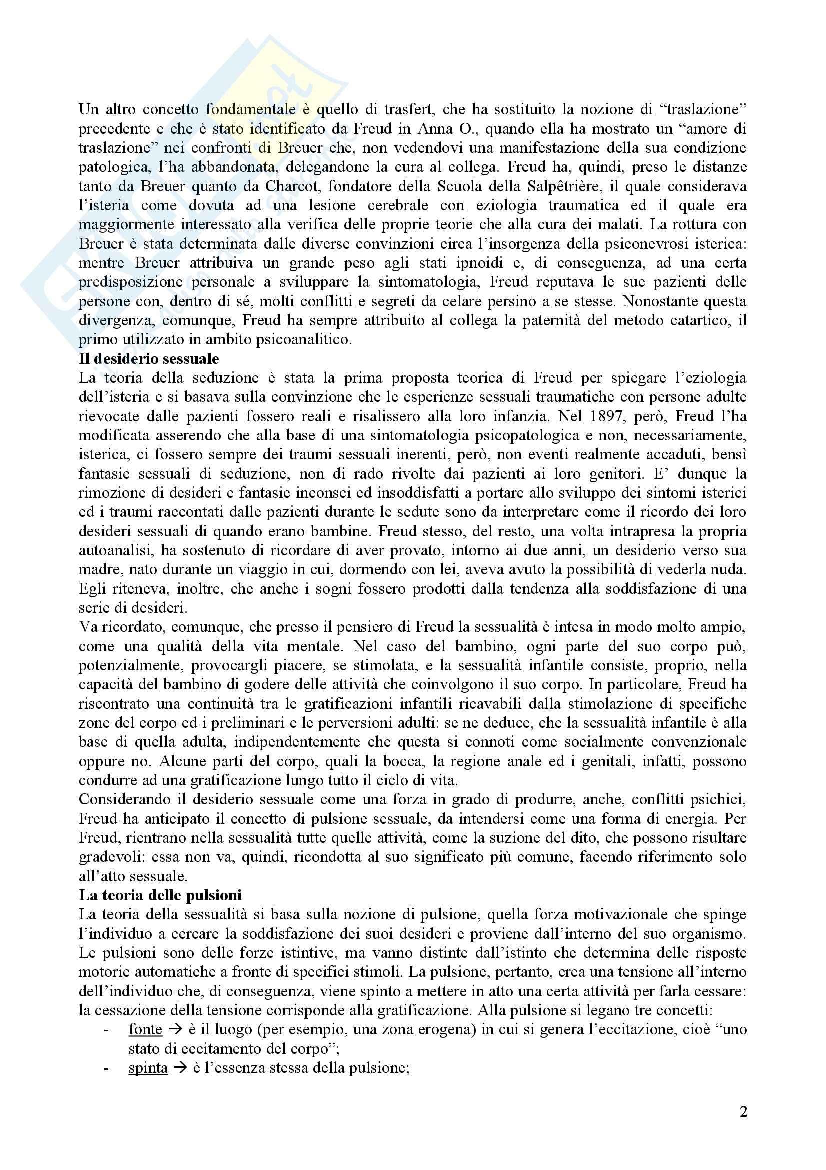 Riassunto esame Psicologia Dinamica, prof. Nespoli, libro consigliato Modelli Evolutivi in Psicologia Dinamica I, Quaglia, Longobardi Pag. 2
