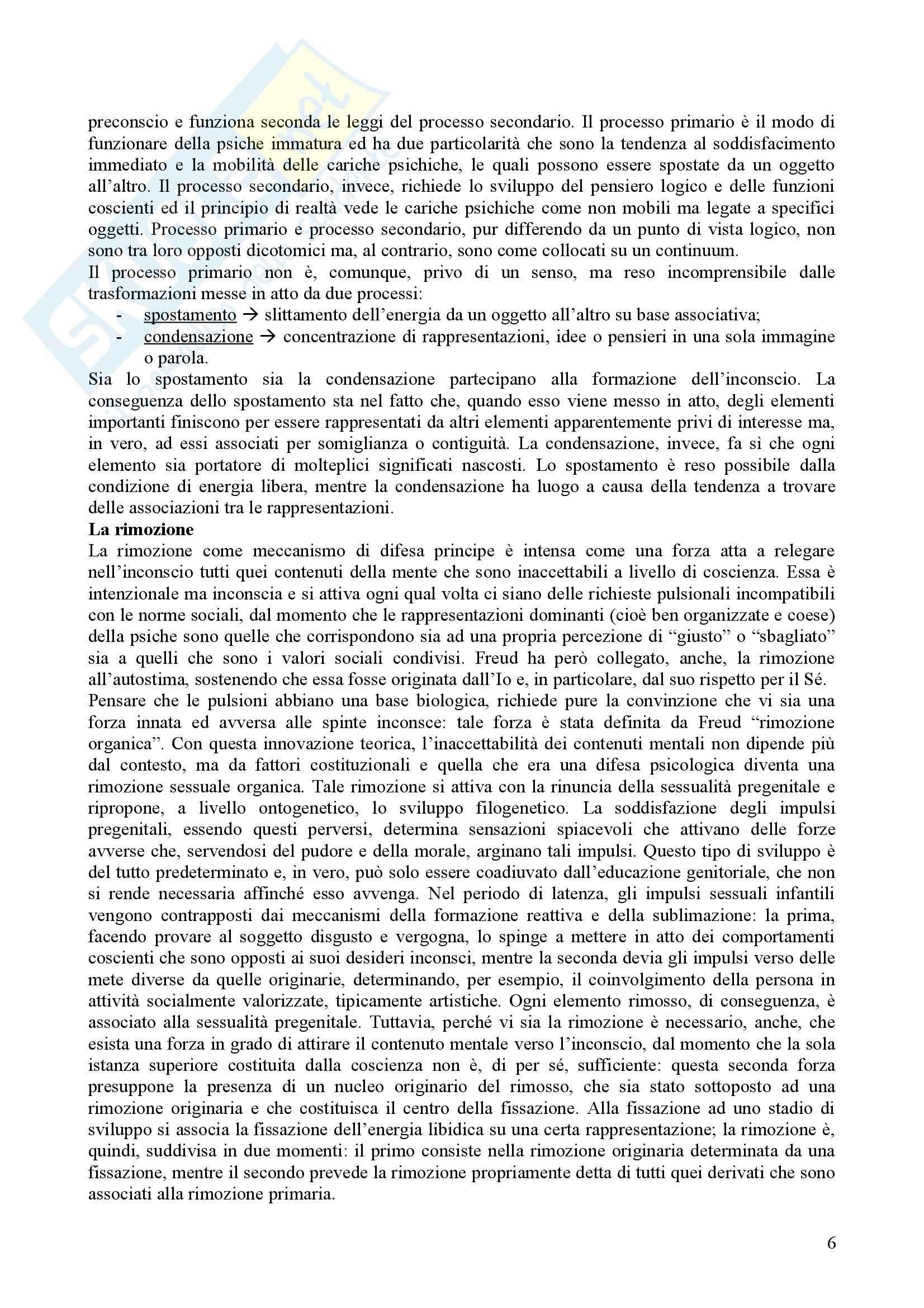 Riassunto esame Psicologia Dinamica, prof. Nespoli, libro consigliato Modelli Evolutivi in Psicologia Dinamica I, Quaglia, Longobardi Pag. 6