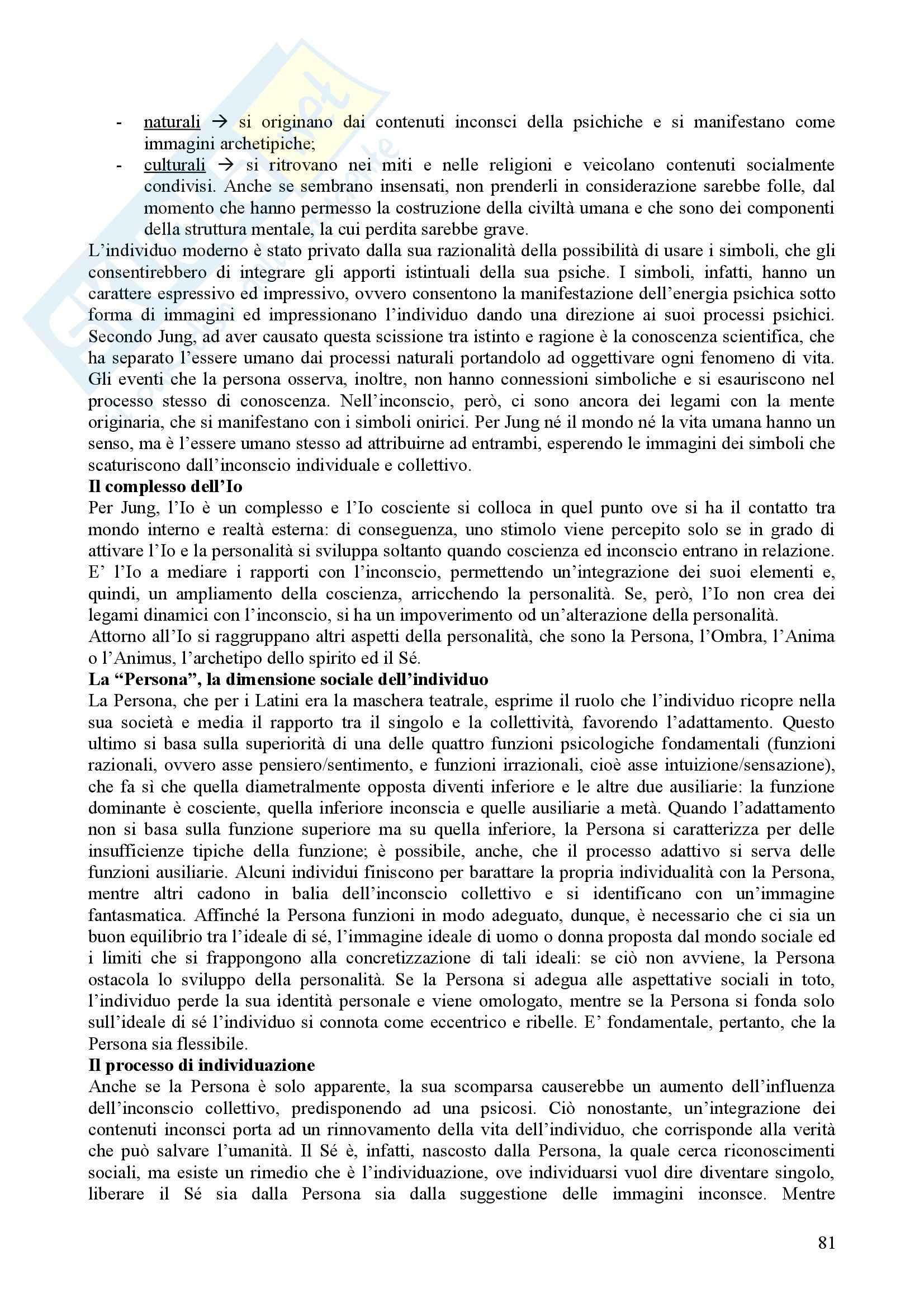 Riassunto esame Psicologia Dinamica, prof. Nespoli, libro consigliato Modelli Evolutivi in Psicologia Dinamica I, Quaglia, Longobardi Pag. 81