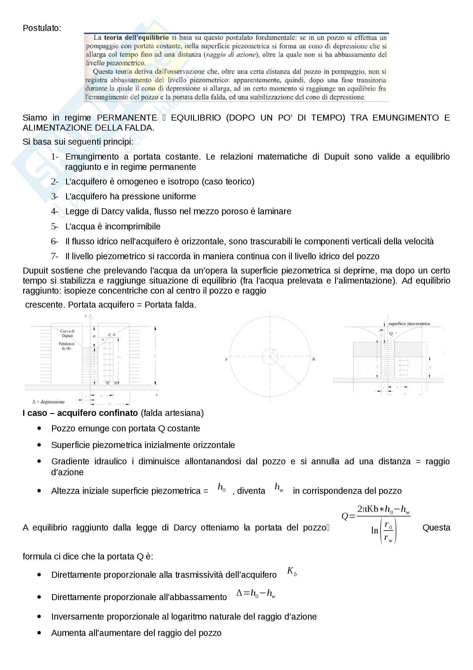 Idrogeologia - riassunto completo per il corso Pag. 16