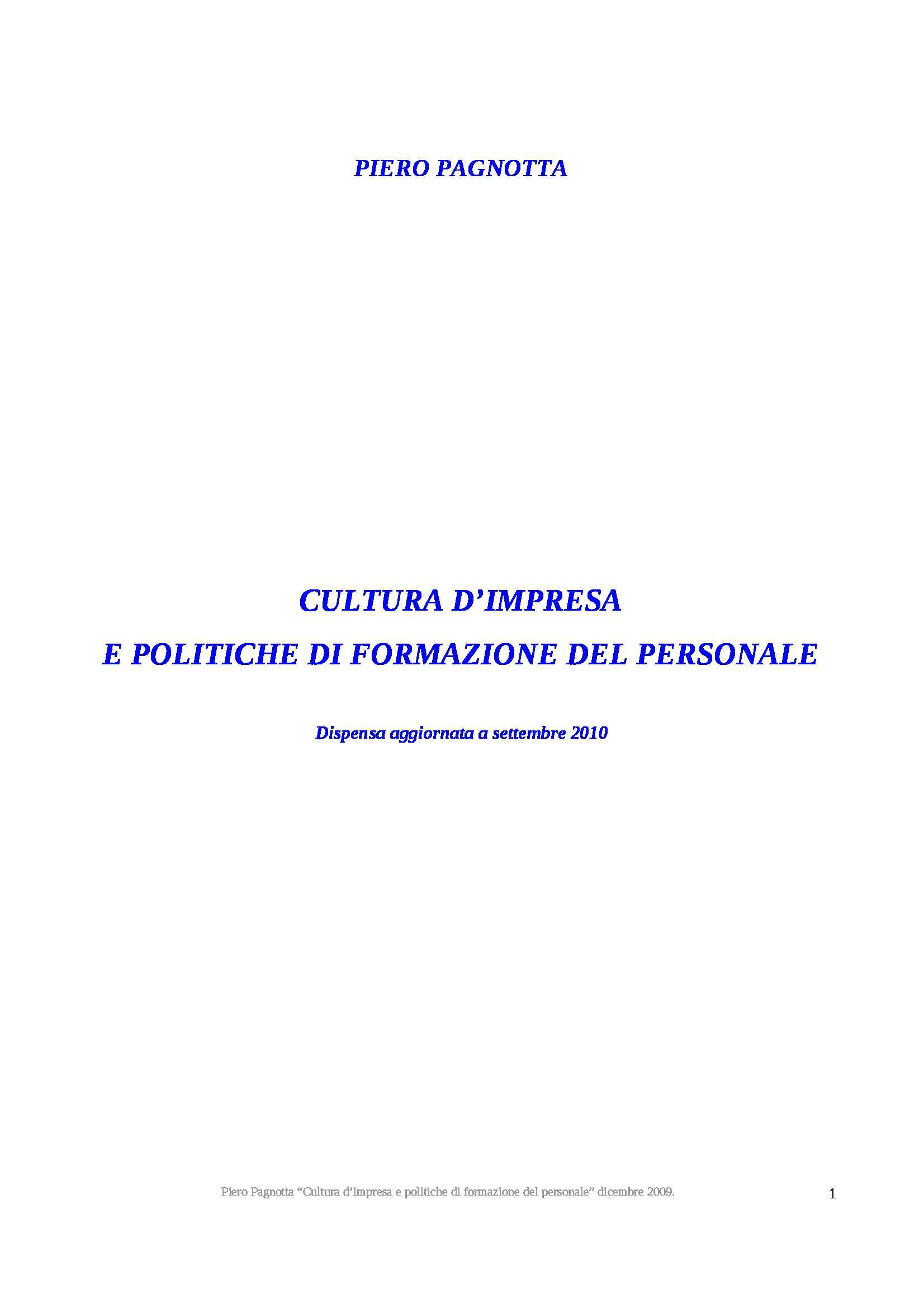 dispensa P. Pagnotta Filosofia del management