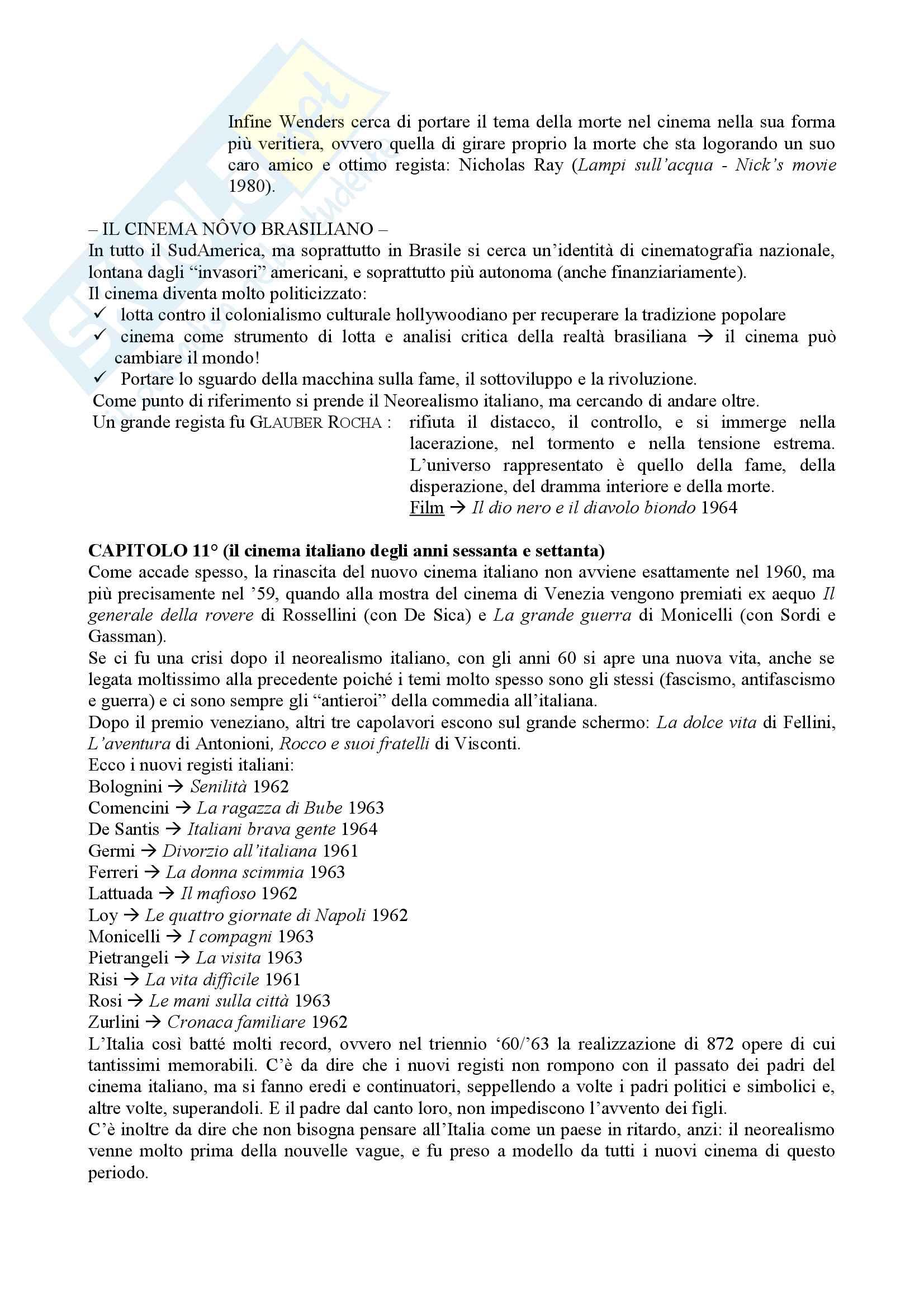Riassunto esame Istituzioni di storia del cinema, prof. Bisoni, libro consigliato Introduzione alla storia del cinema, Bertetto Pag. 16