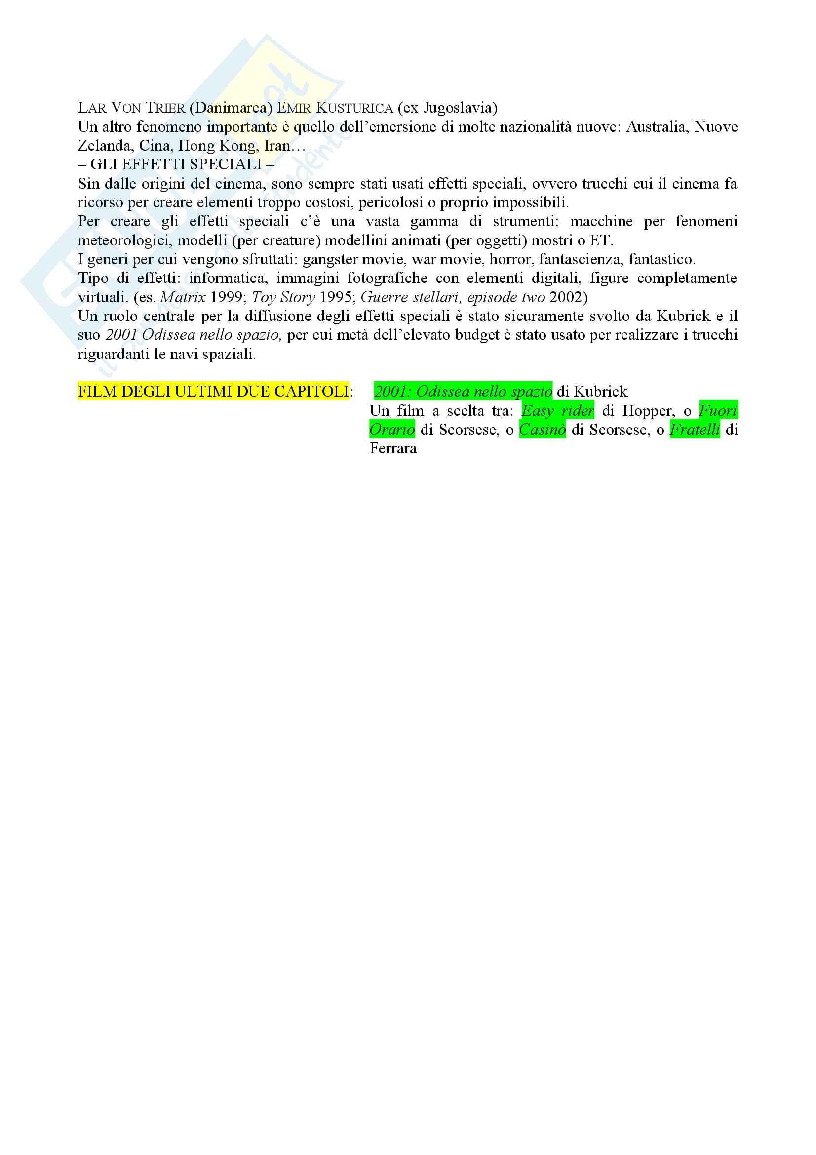Riassunto esame Istituzioni di storia del cinema, prof. Bisoni, libro consigliato Introduzione alla storia del cinema, Bertetto Pag. 21
