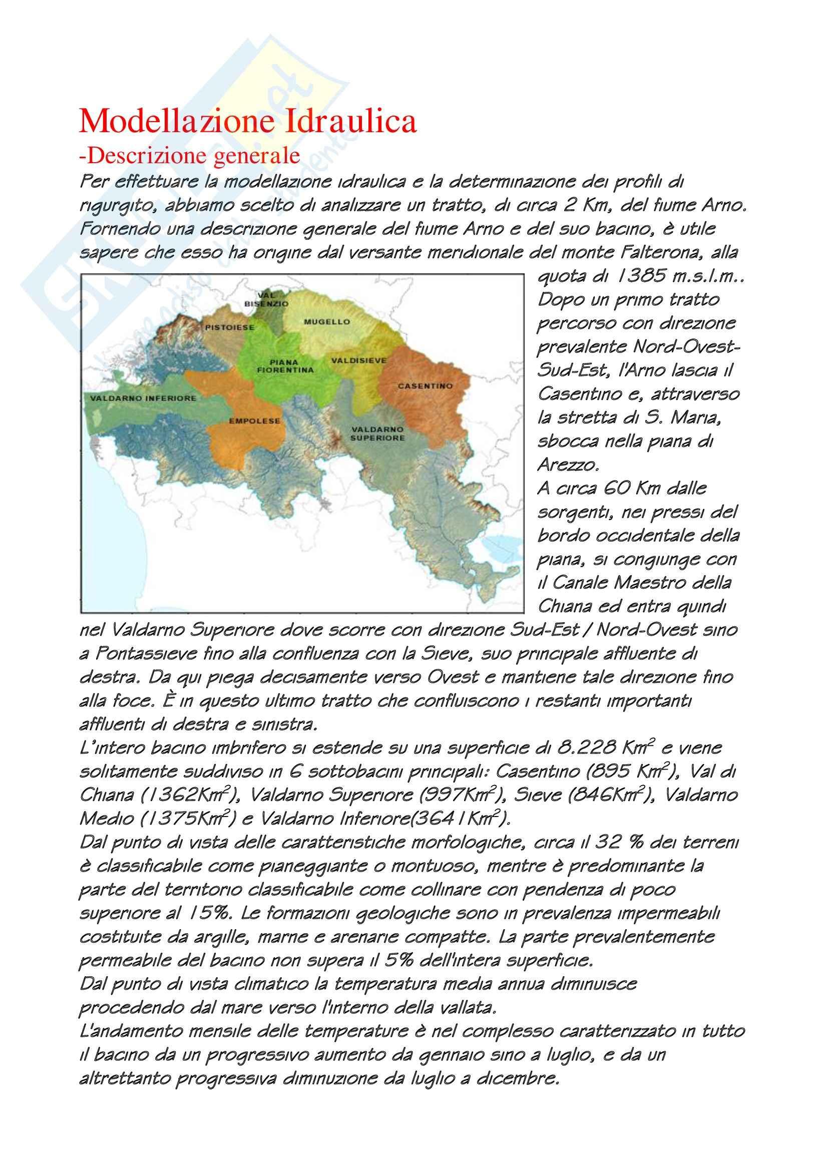 Idrologia e costruzioni idrauliche - Analisi Idraulica Pag. 2