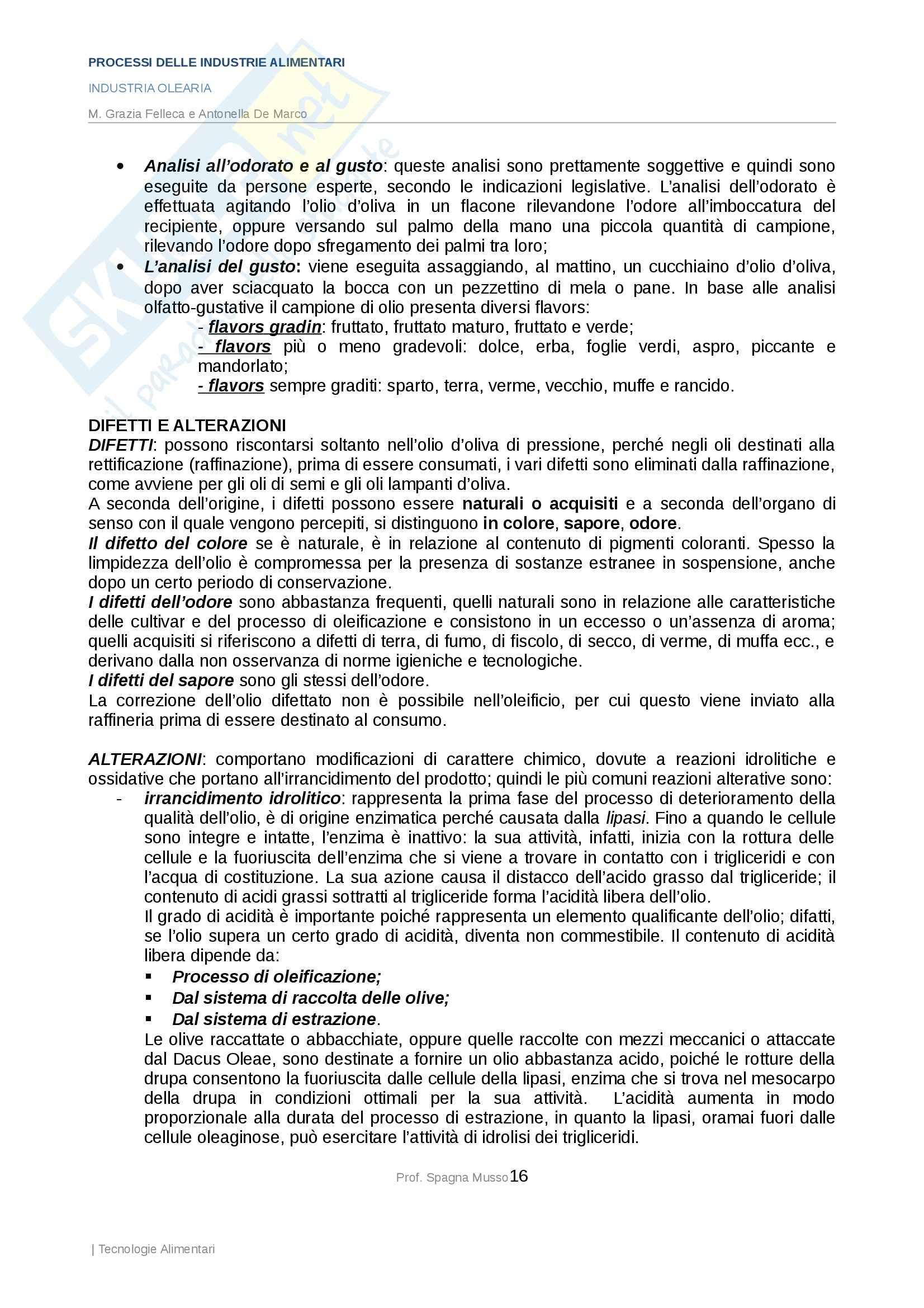 Processi delle industrie alimentari - industria olearia Pag. 16