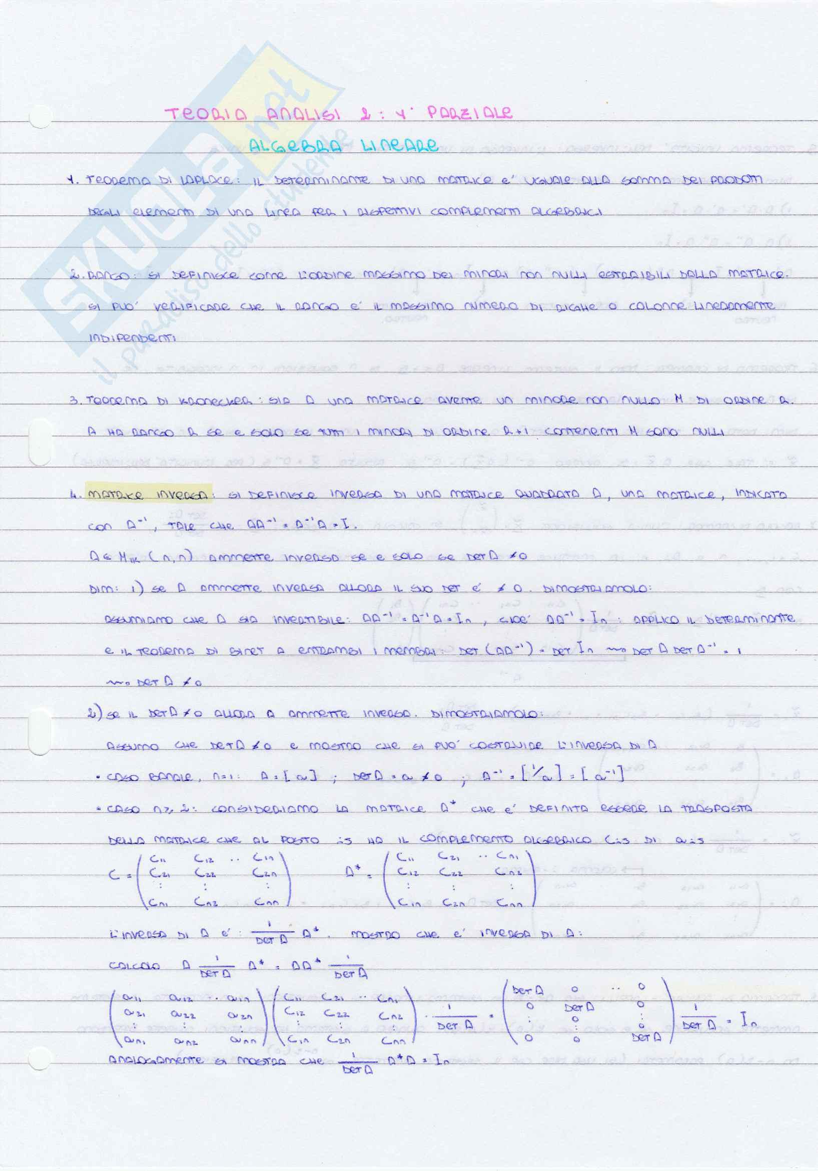 Analisi 2, Polimi