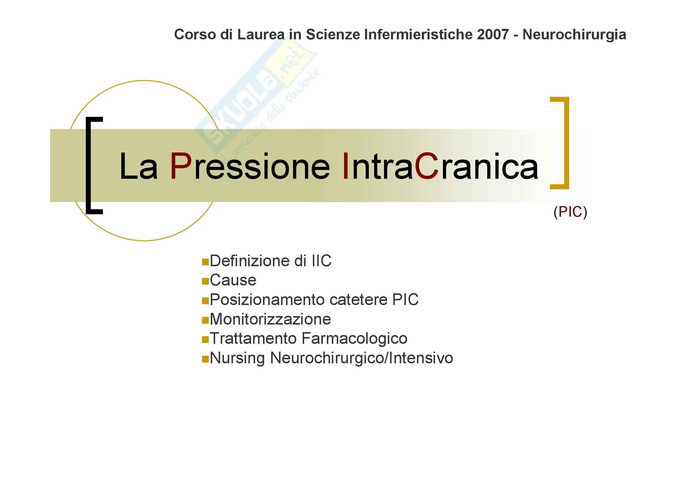 Neurochirurgia - la pressione intracranica