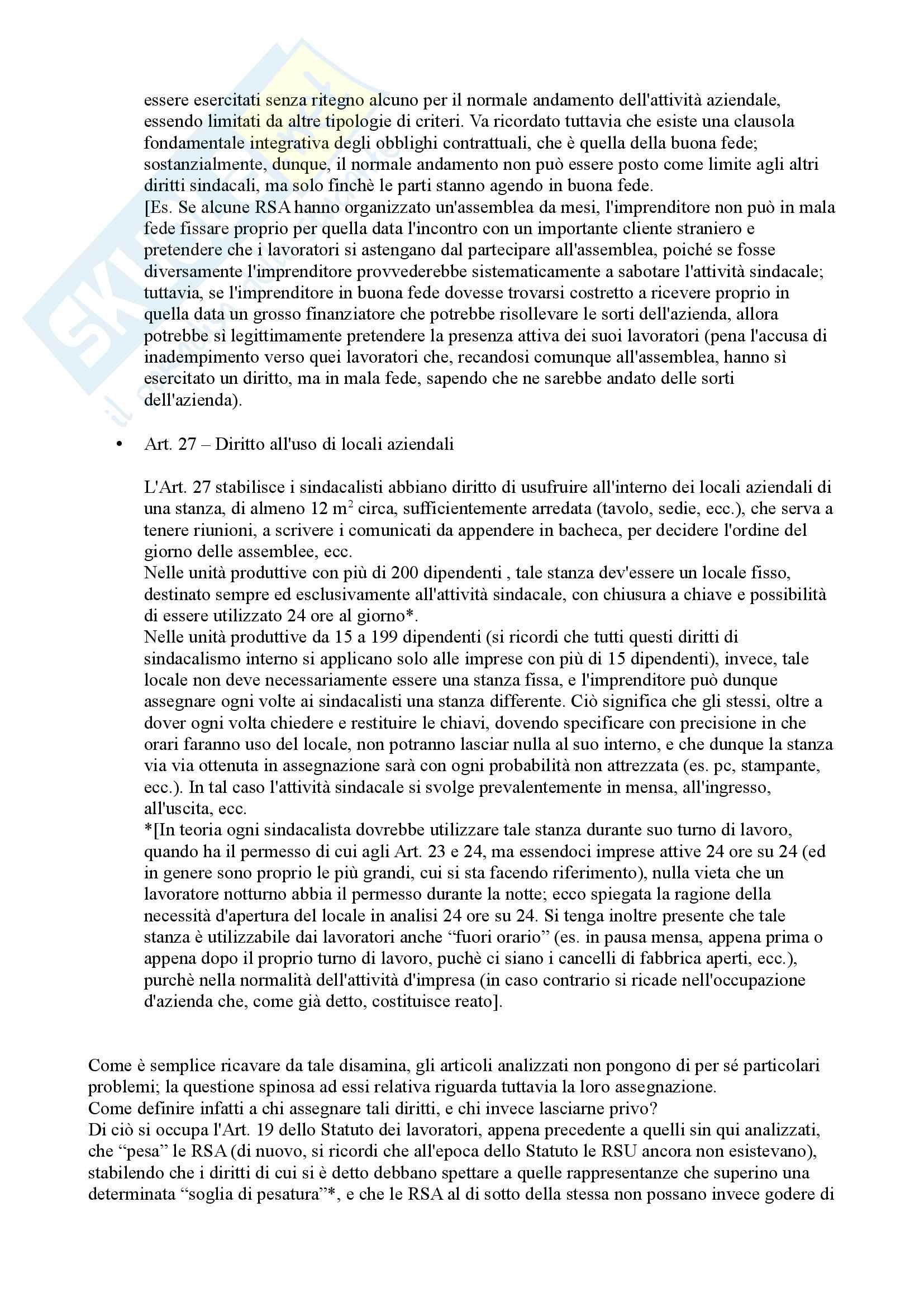 Lezioni, Diritto del lavoro Pag. 86