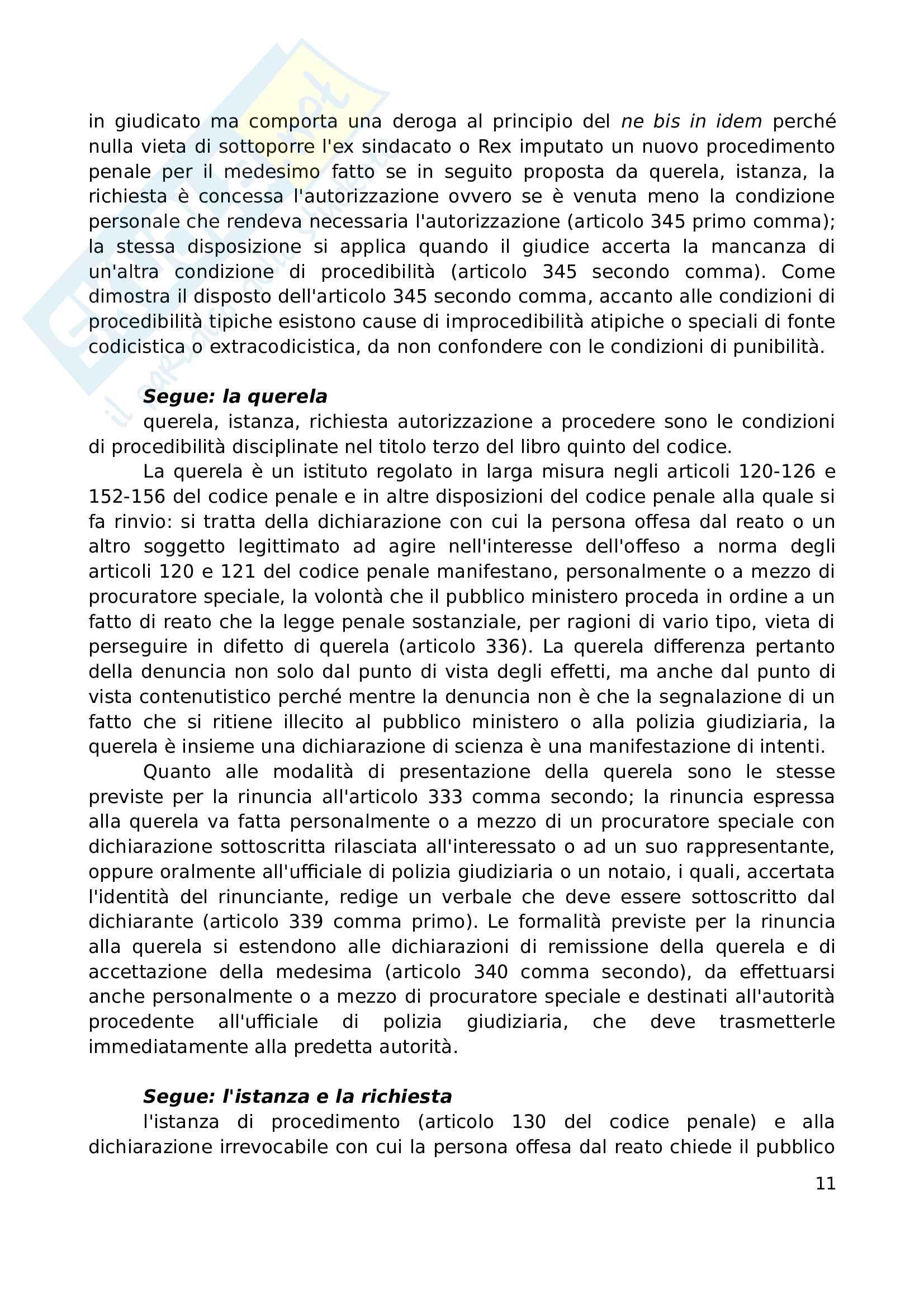 Riassunto esame (seconda parte), prof. Marzaduri, libro consigliato Compendio di Procedura Penale, Conso, Grevi Pag. 11