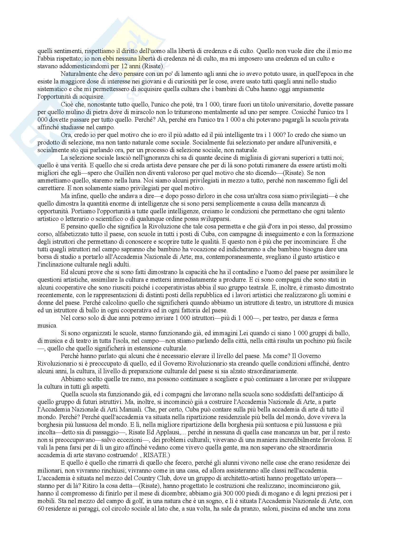 Traduzione discorso Fidel Castro Pag. 26