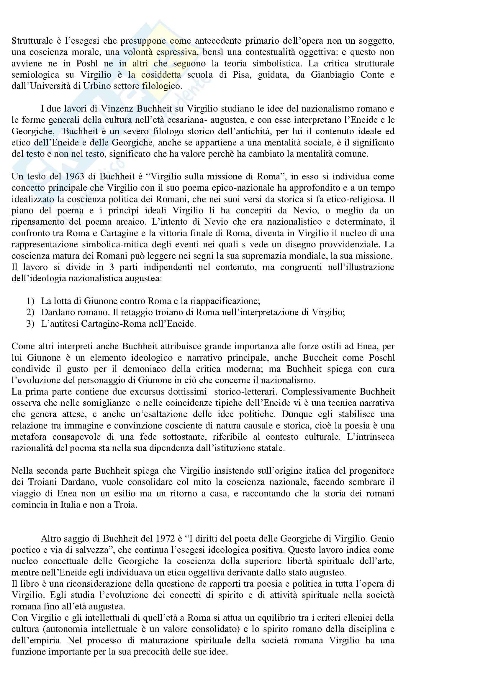 Lingua  e letteratura latina - critica di Virgilio Pag. 11