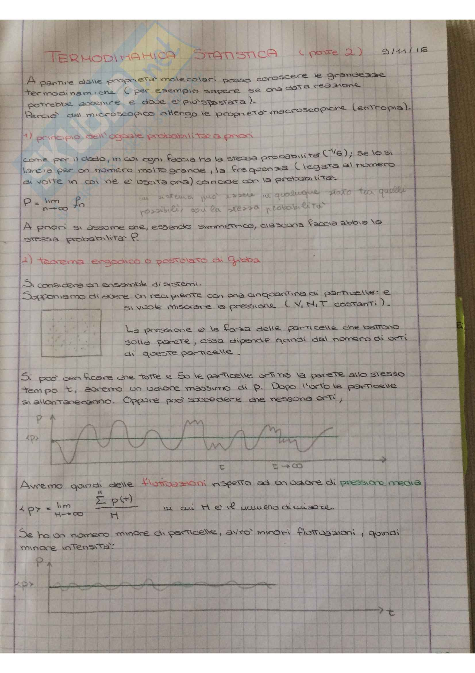 Appunti di Termodinamica statistica