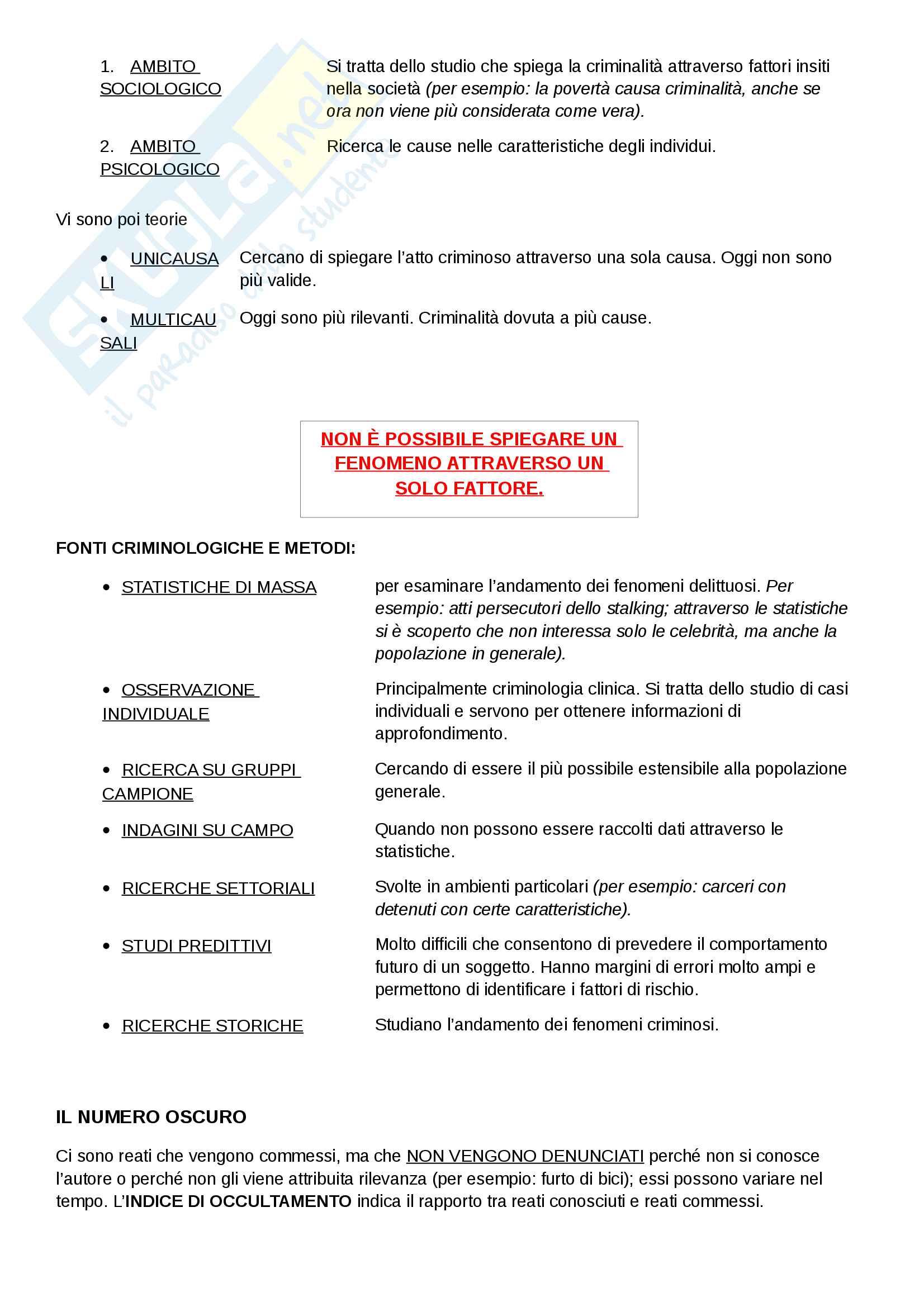 Criminologia- prof. Giovanna Laura De Fazio-Appunti lezioni Pag. 2