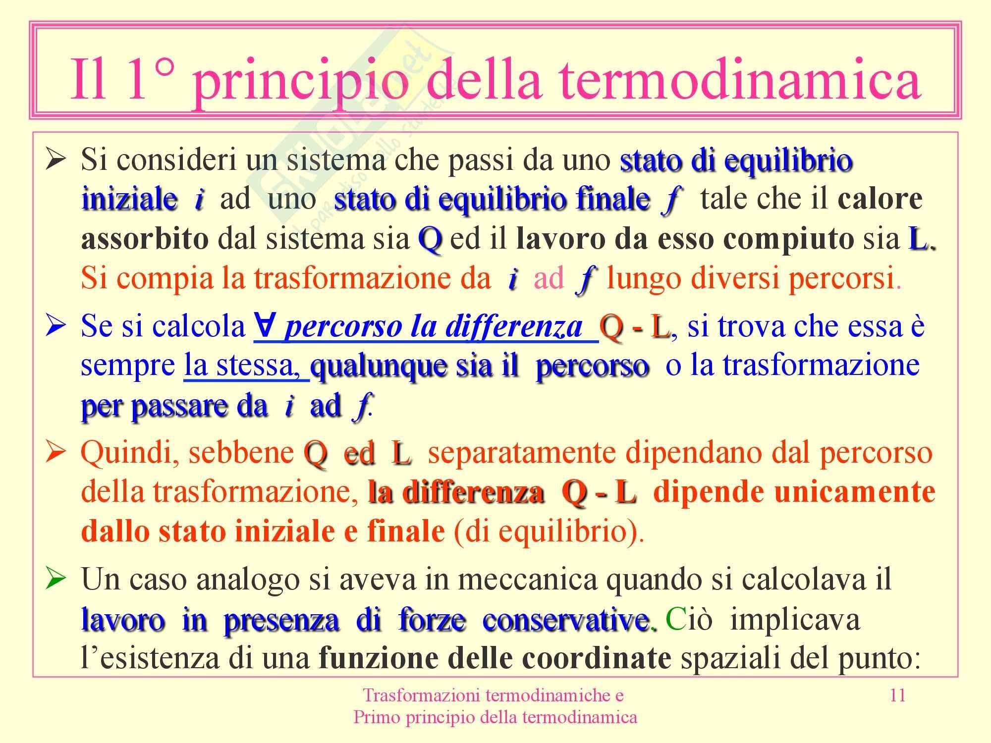Fisica medica - termodinamica Pag. 11