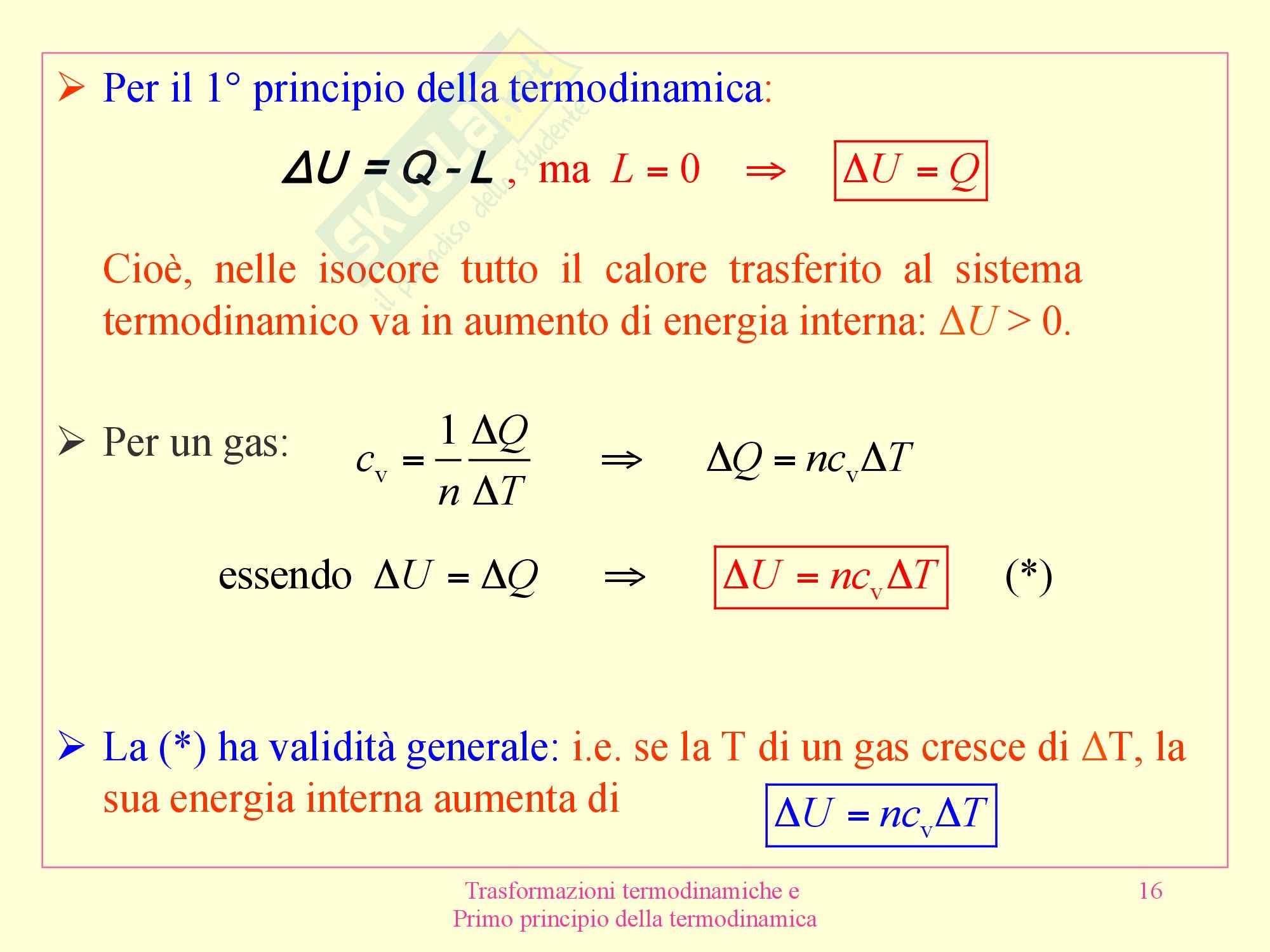 Fisica medica - termodinamica Pag. 16