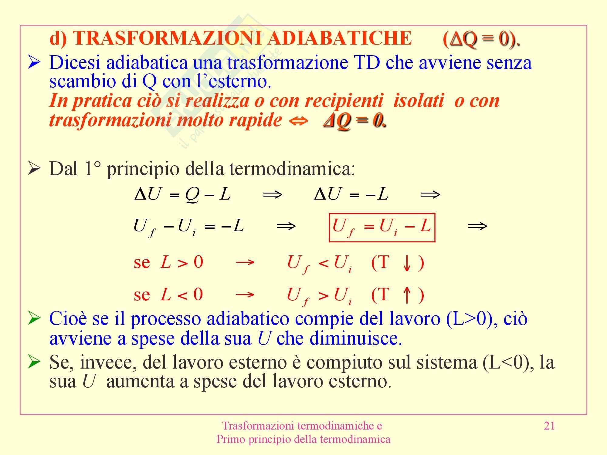 Fisica medica - termodinamica Pag. 21