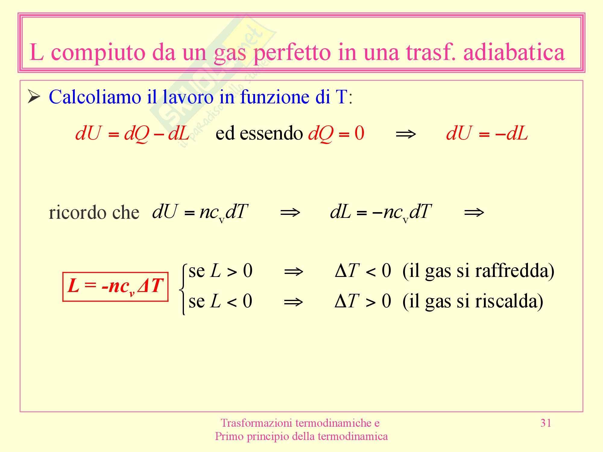 Fisica medica - termodinamica Pag. 31