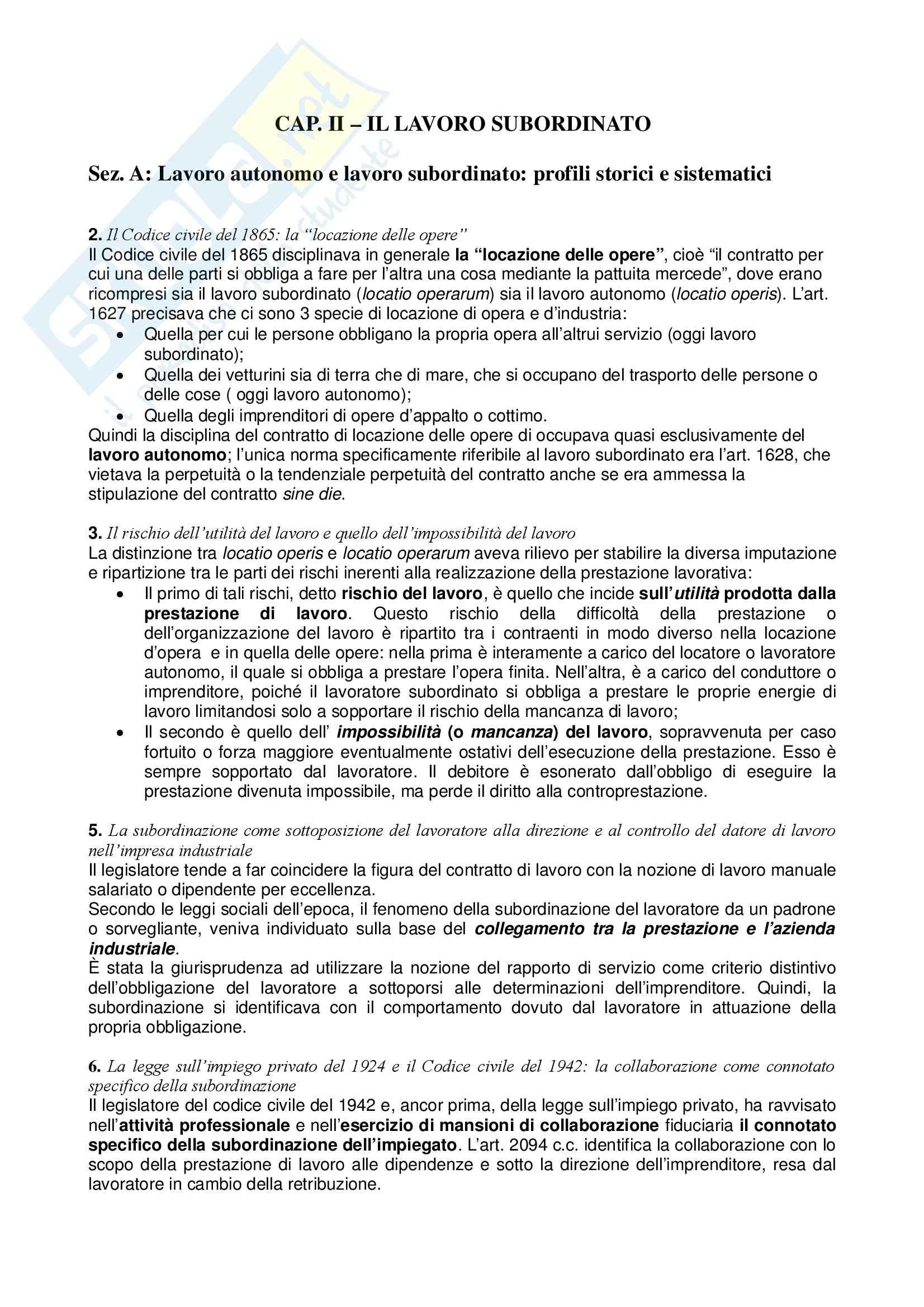 Riassunto esame Diritto del Lavoro, prof. Zoli, libro consigliato Diritto del Lavoro, Ghera