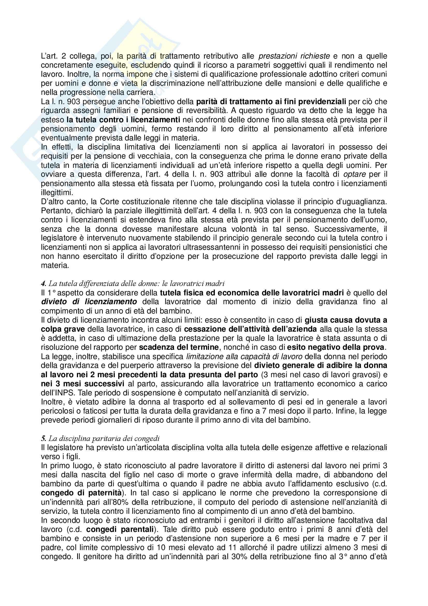 Riassunto esame Diritto del Lavoro, prof. Zoli, libro consigliato Diritto del Lavoro, Ghera Pag. 26