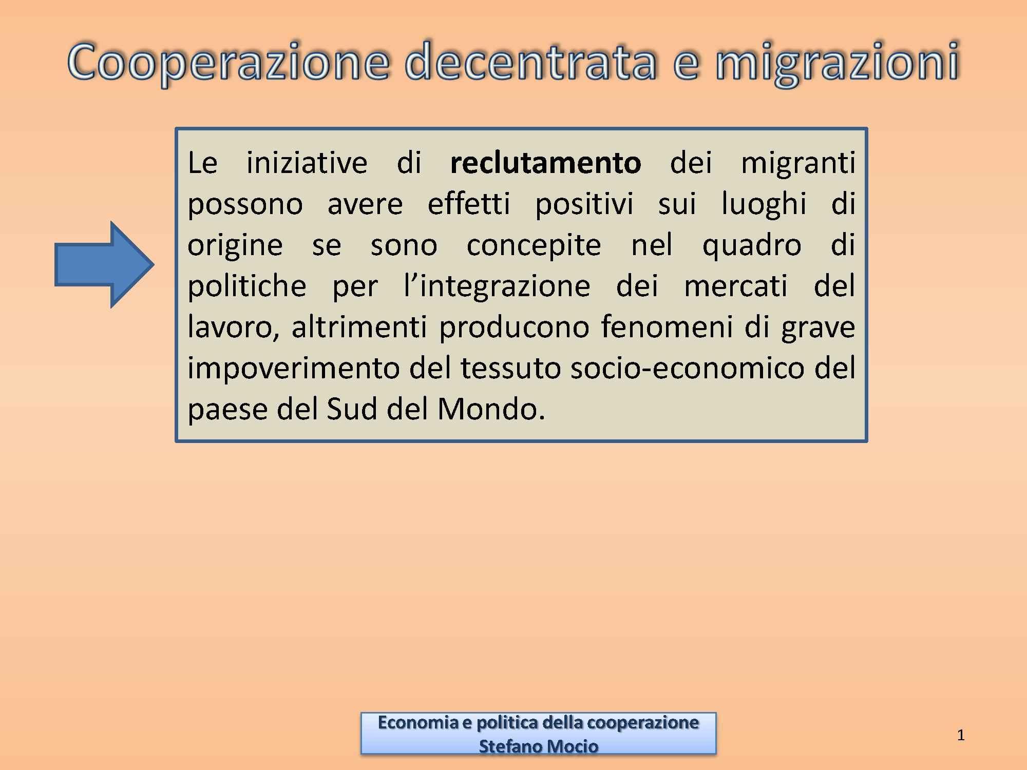 Cooperazione decentrata e normativa italiana